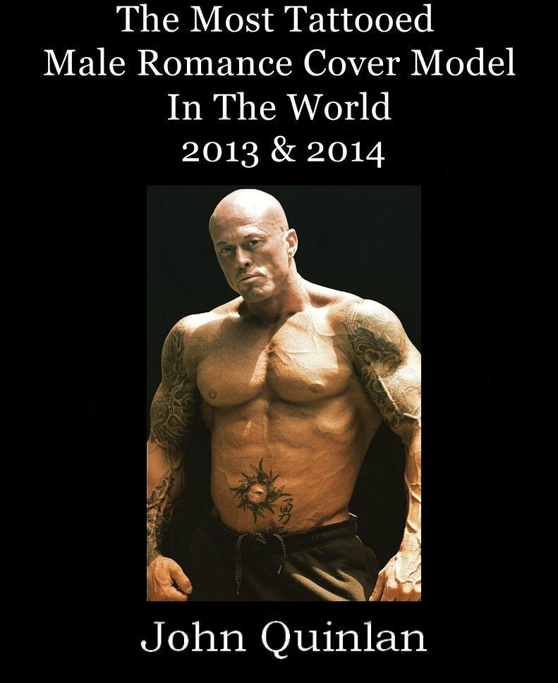 The Most Tattooed Male Romance Cover Model in the World 2013 & 2014 John Joseph Quinlan #JohnQuinlan