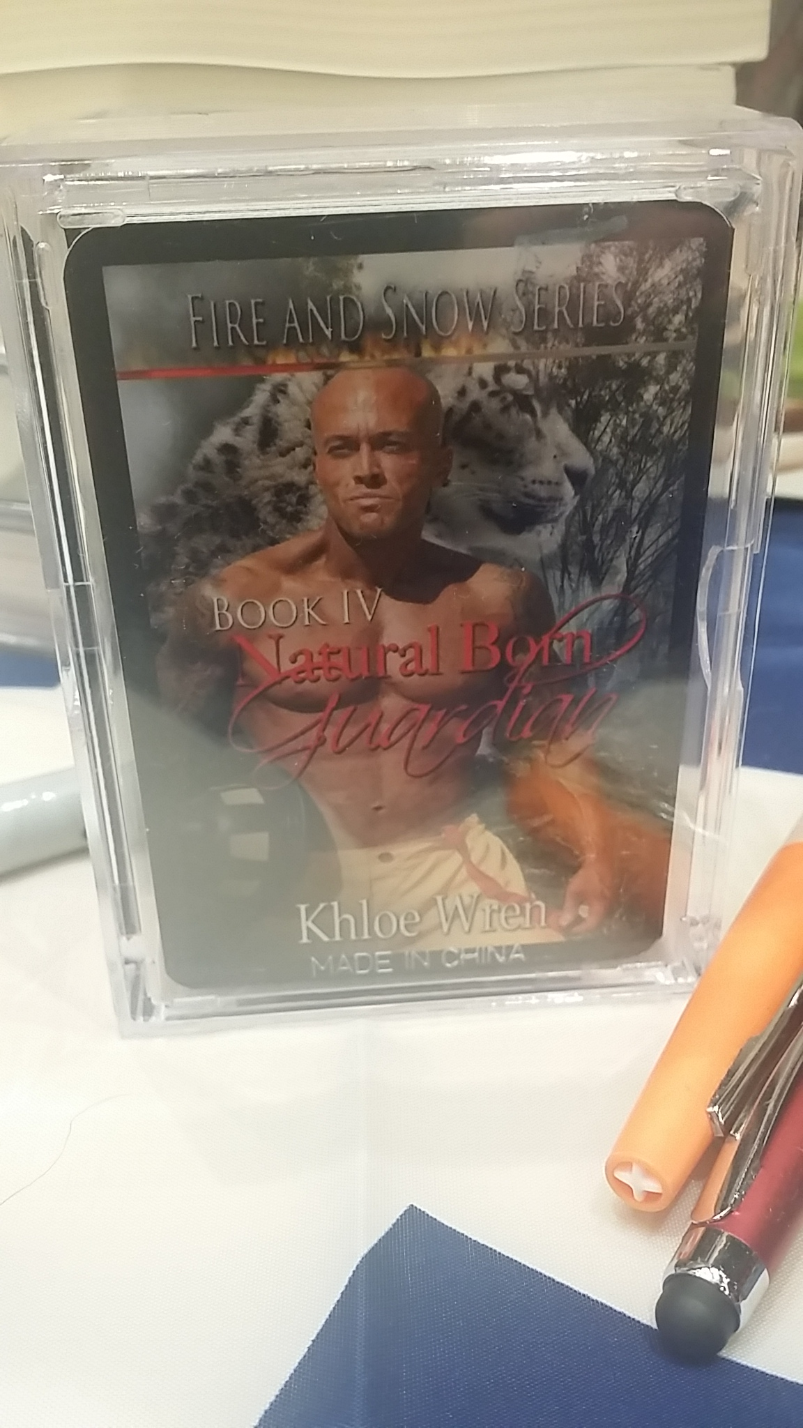 2015 World Famous RT Convention Book Fair Dallas, Texas Featured Cover Model John Joseph Quinlan as Xander by Khloe Wren Playing Cards #JohnQuinlan