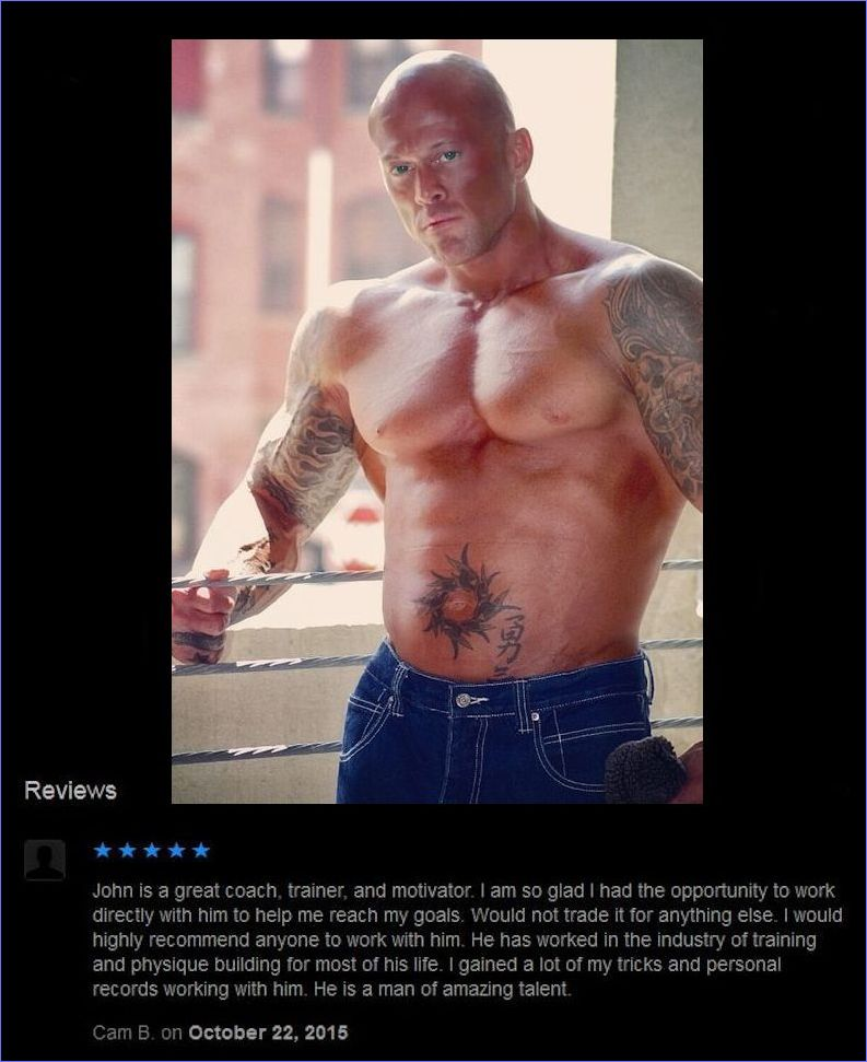 Tattooed Male Romance & Physique Model John Joseph Quinlan Personal Trainer Review #JohnQuinlan