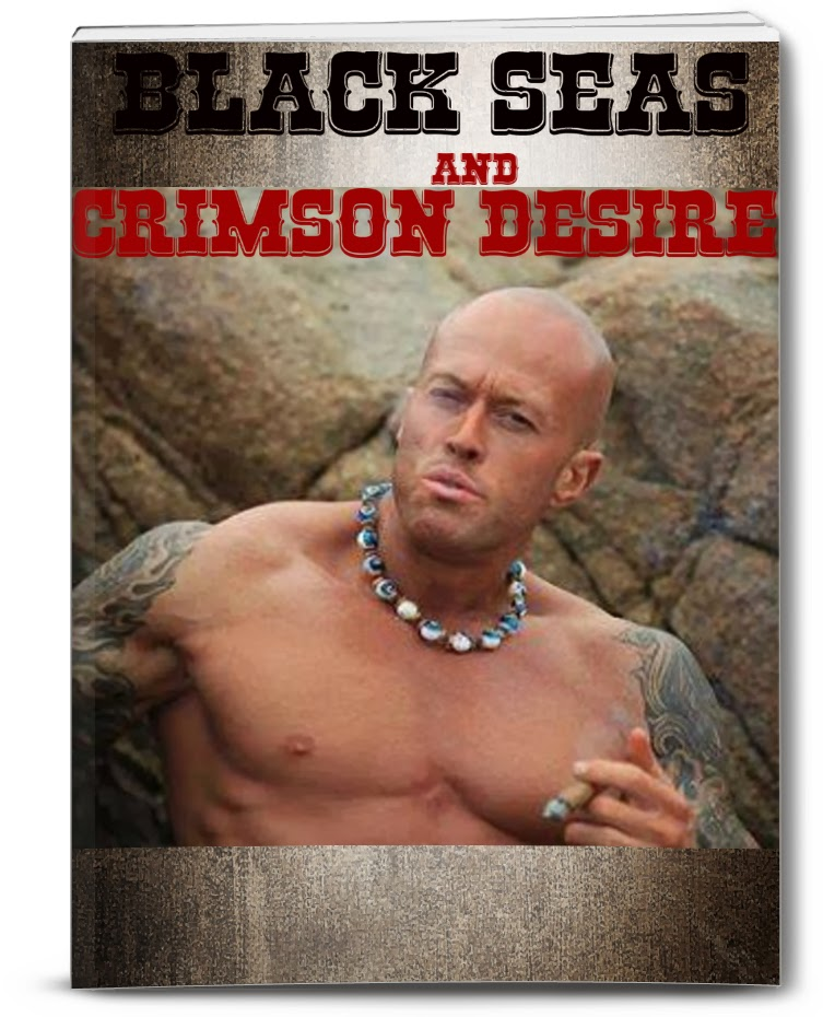 Tattooed Romance Cover Model John Quinlan Black Seas and Crimson Desire by Bitten Press #JohnQuinlan
