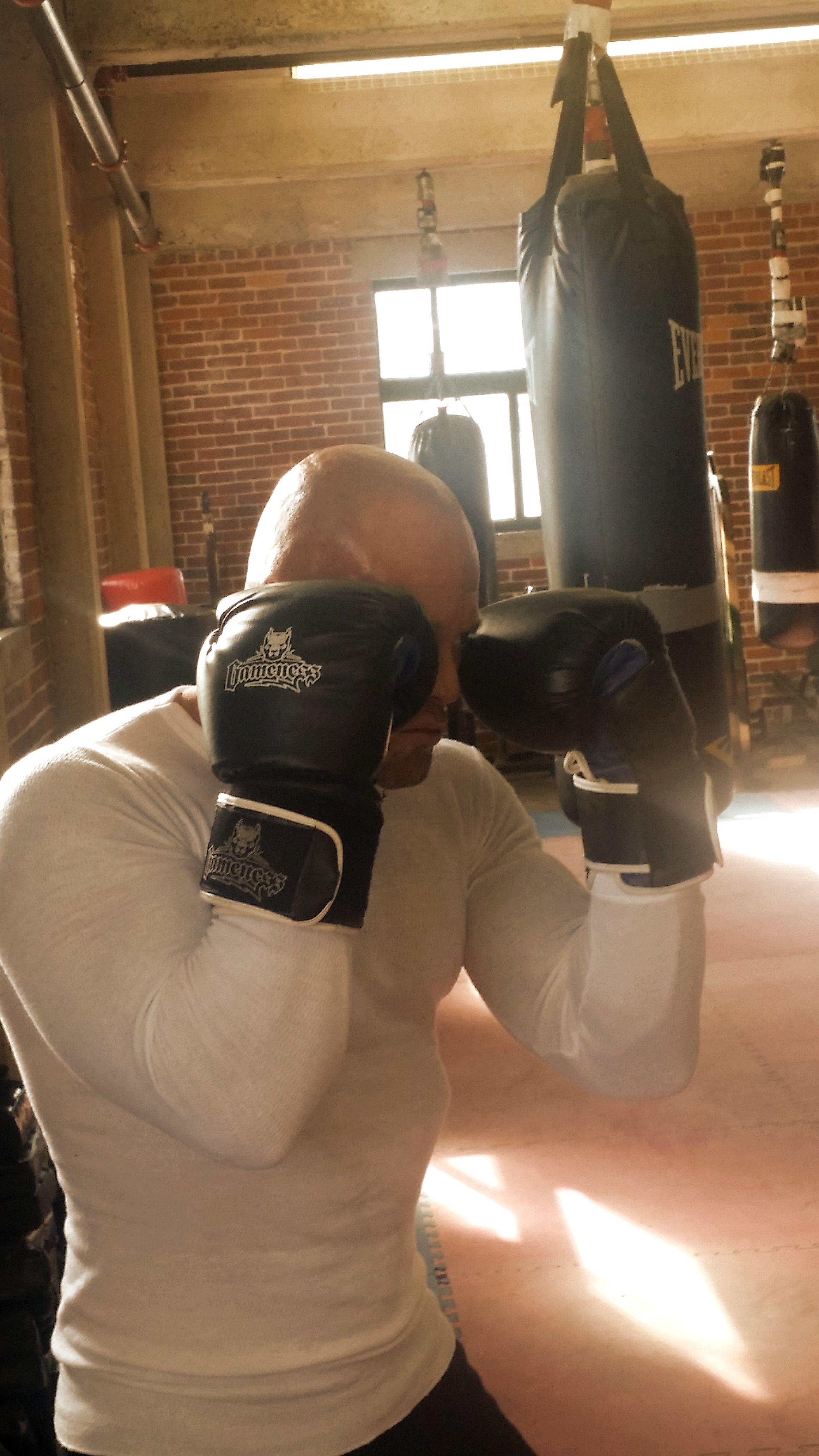 Tattooed Boston Physique Model & Actor John Joseph Quinlan 2015 Pilot Film Series Project Boxing Training #JohnQuinlan