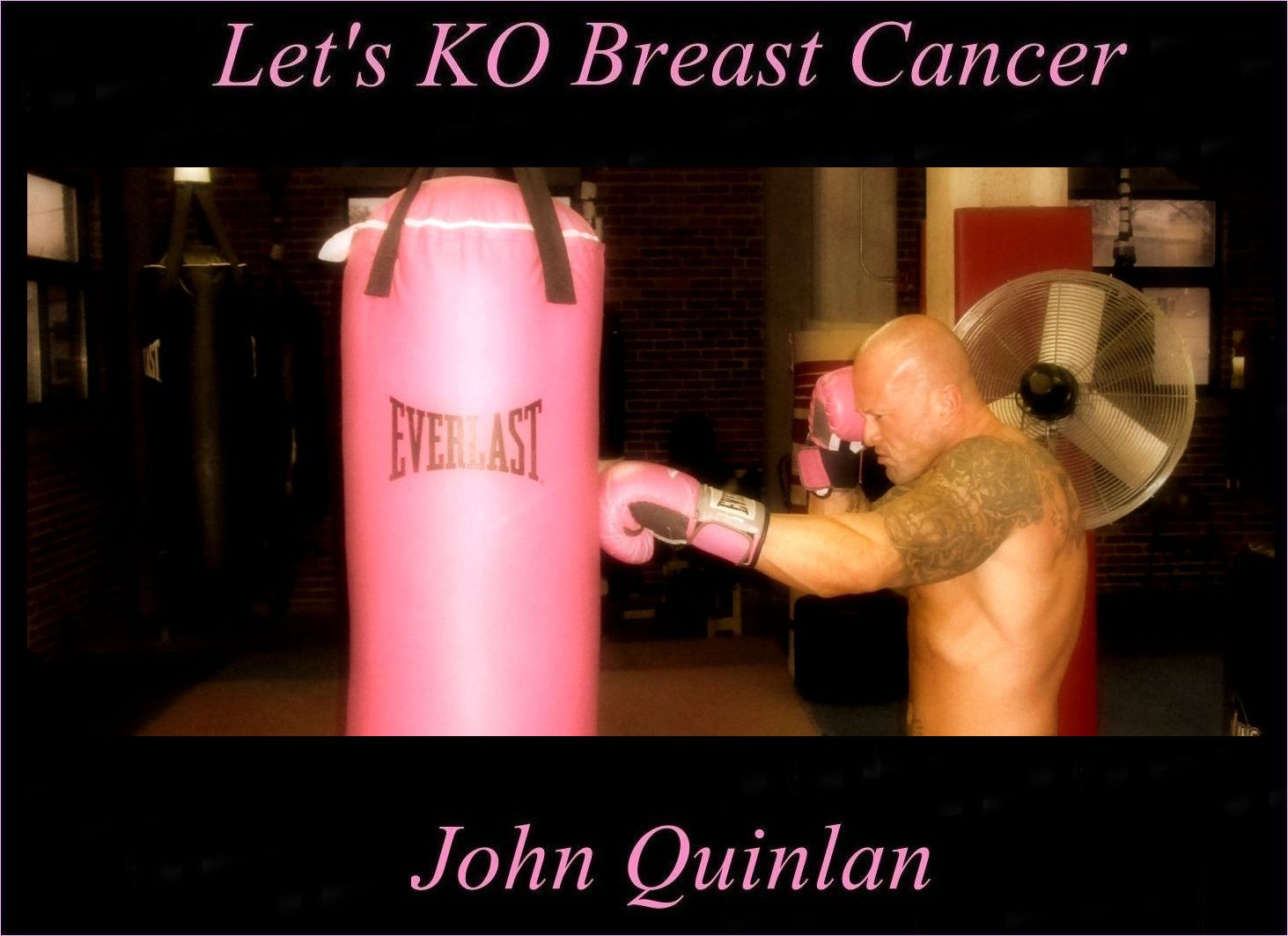 Tattooed Boston Physique Model & Actor John Joseph Quinlan 2015 Pilot Film Series Project KO Breast Cancer Boxing #JohnQuinlan