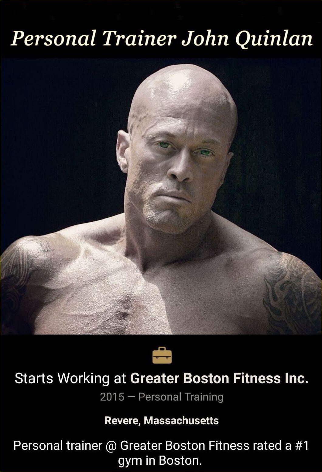 Tattooed Male Romance & Physique Model John Joseph Quinlan Personal Trainer @ Greater Boston Fitness #JohnQuinlan