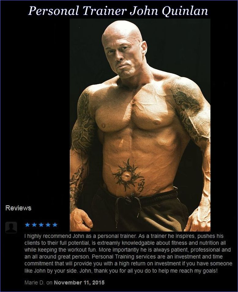 Tattooed Male Romance & Physique Model John Joseph Quinlan Personal Trainer Review by Marie Morello Donahue #JohnQuinlan