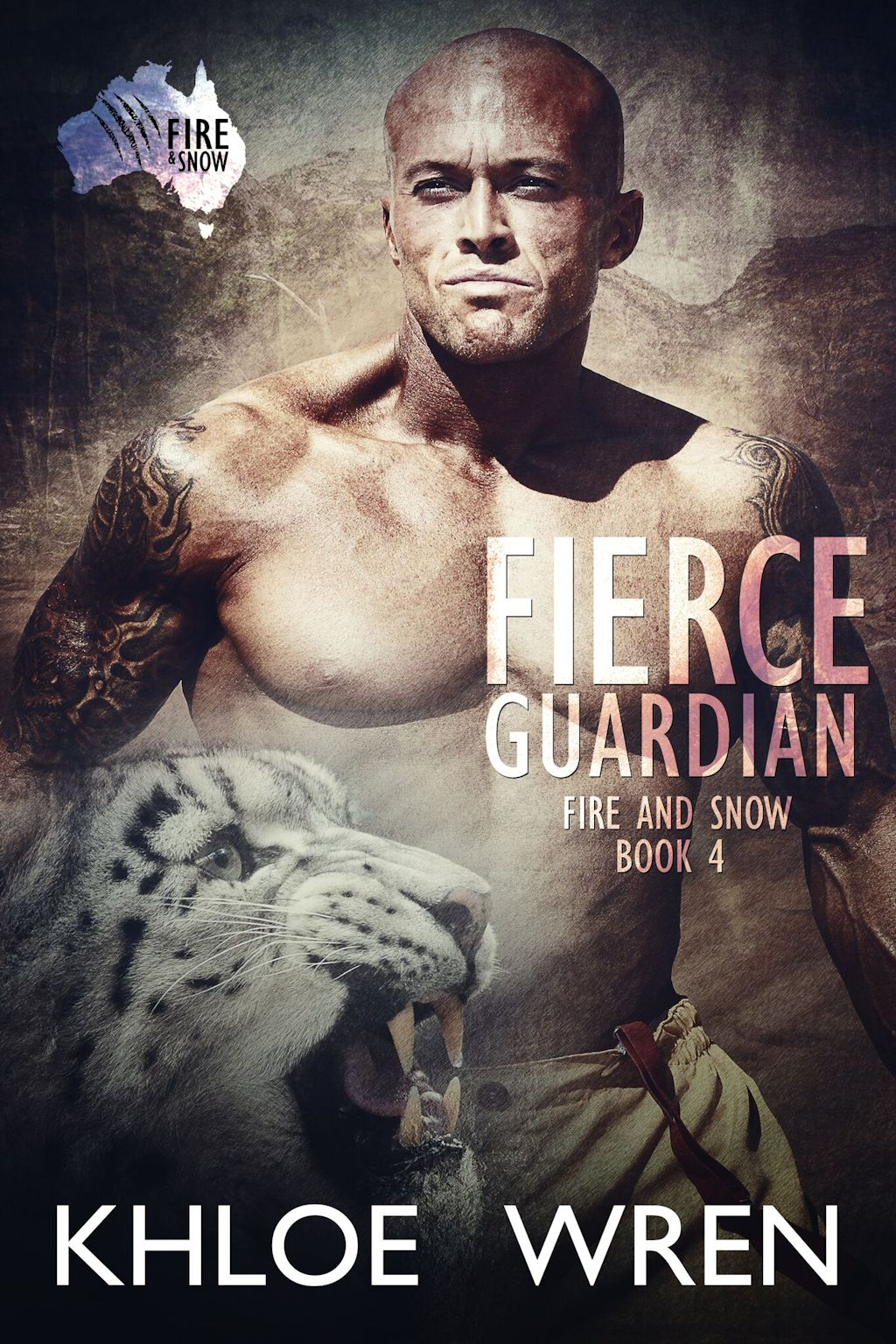 Tattooed Romance Cover Model John Joseph Quinlan Fierce Guardian Book IV Fire & Snow Series by Khloe Wren #JohnQuinlan