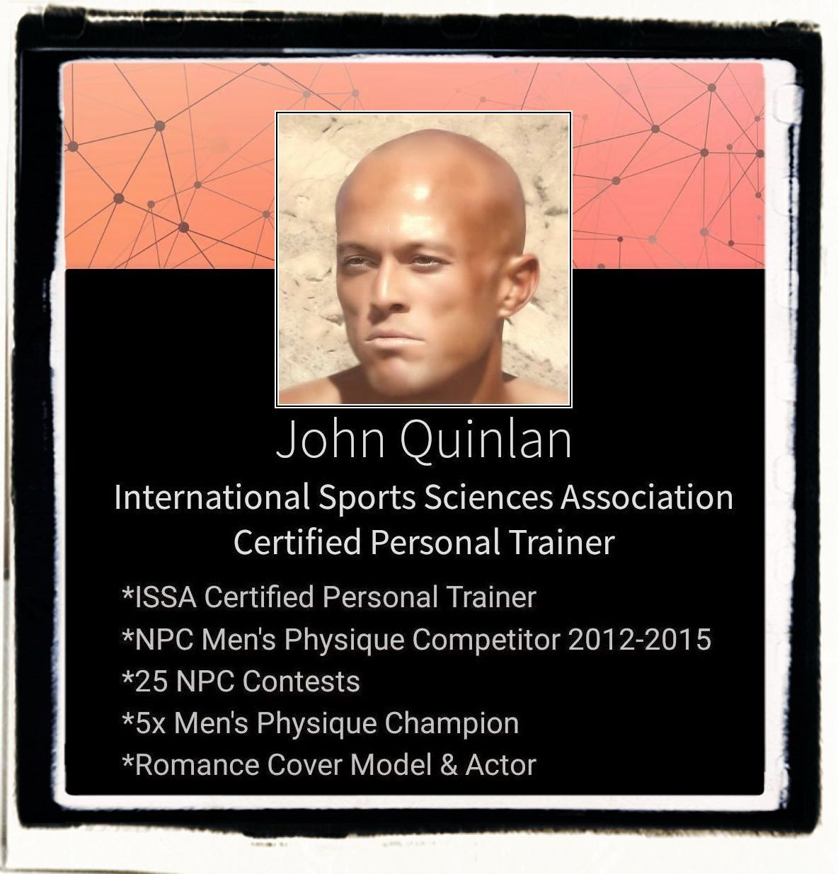 Tattooed Male Romance & Physique Model Actor John Joseph Quinlan Certified Personal Fitness Trainer #JohnQuinlan