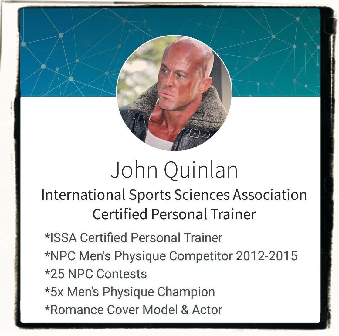 Tattooed Male Romance & Physique Model Actor John Joseph Quinlan Certified Personal Trainer #JohnQuinlan