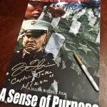 2016 Jillian Bullock Film A Sense of Purpose Fighting For Our Lives Poster & Actor John Joseph Quinlan as Army Captain Jake Nixon Autograph #JohnQuinlan