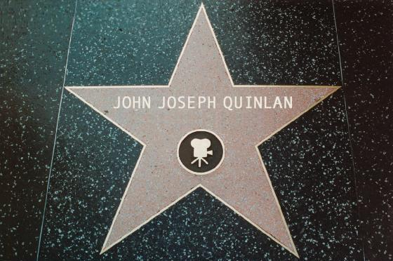 Actor & Model John Joseph Quinlan @ The Famous Hollywood Star by X Master #JohnQuinlan