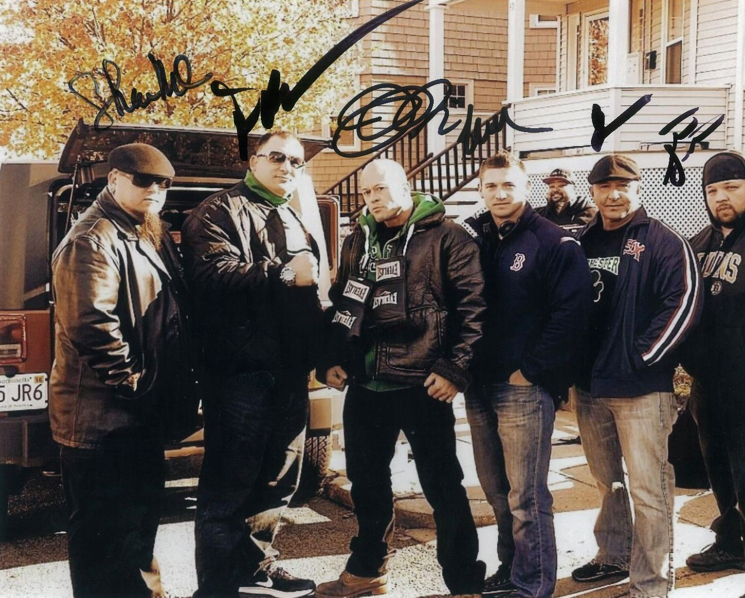 Boston Film Series Set of 'The Ave' Actors Shawn McCarron Peter Karras John Joseph Quinlan Worth Olsen James Panagopoulos & Tim Santos 11x14 Signed Autograph #JohnQuinlan