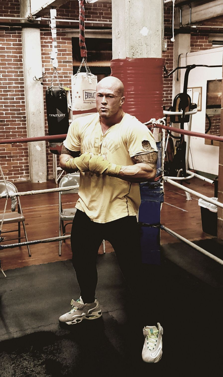 Tattooed Physique Model & Actor John Joseph Quinlan Film Series Training in Mike Tyson Boxing 2016 #JohnQuinlan