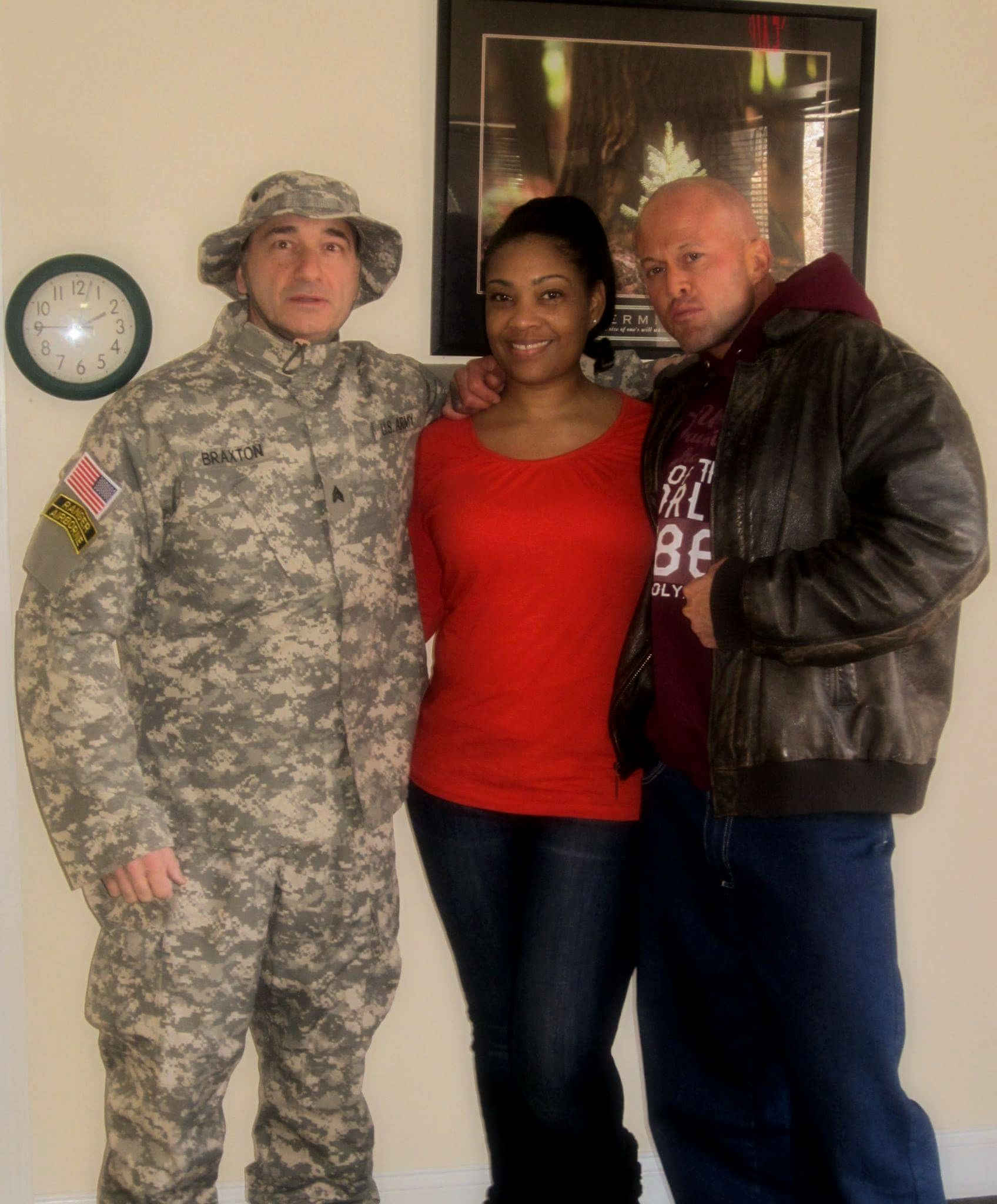 Actor Charles Astoria Tamara Woods & John Joseph Quinlan On Movie Set 2016 #JohnQuinlan