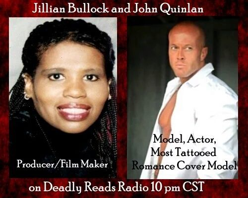 Deadly Reads Radio with Jillian Bullock & Physique Model Actor John Joseph Quinlan #JohnQuinlan