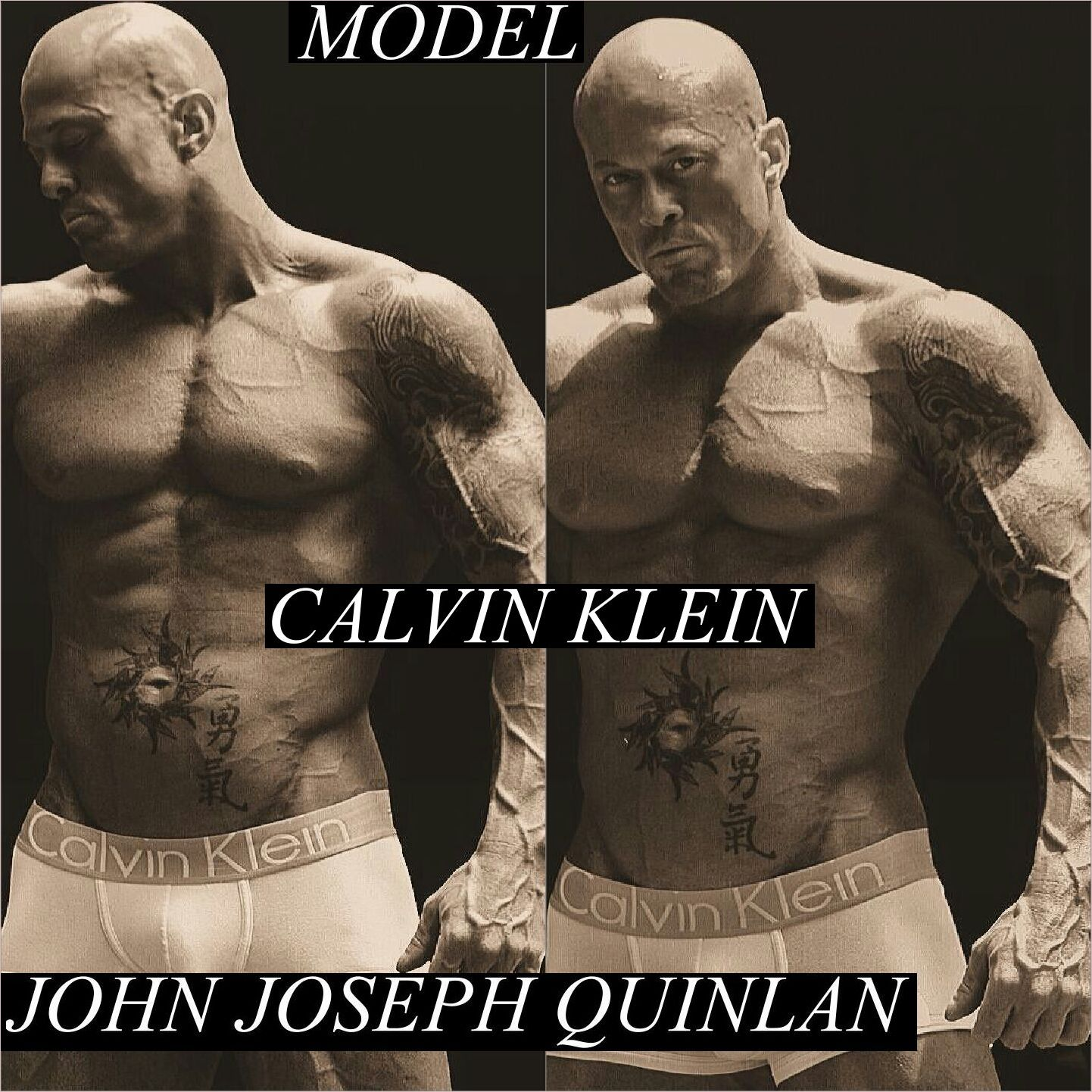 Male Model & Actor John Joseph Quinlan in Calvin Klein #JohnQuinlan