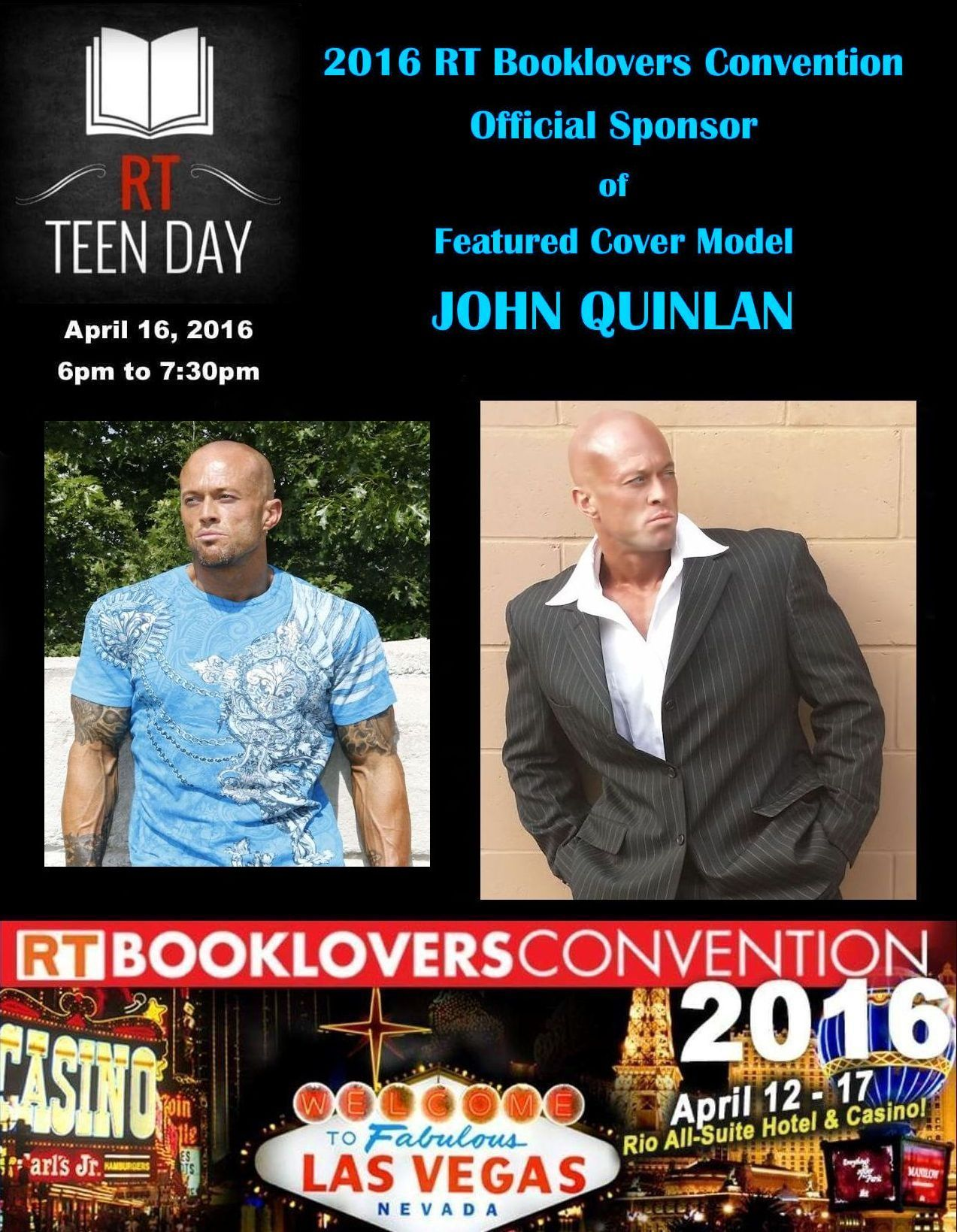 2016 RT Convention Las Vegas Featured Cover Model John Joseph Quinlan by Roxanna Rose #Johnuinlan