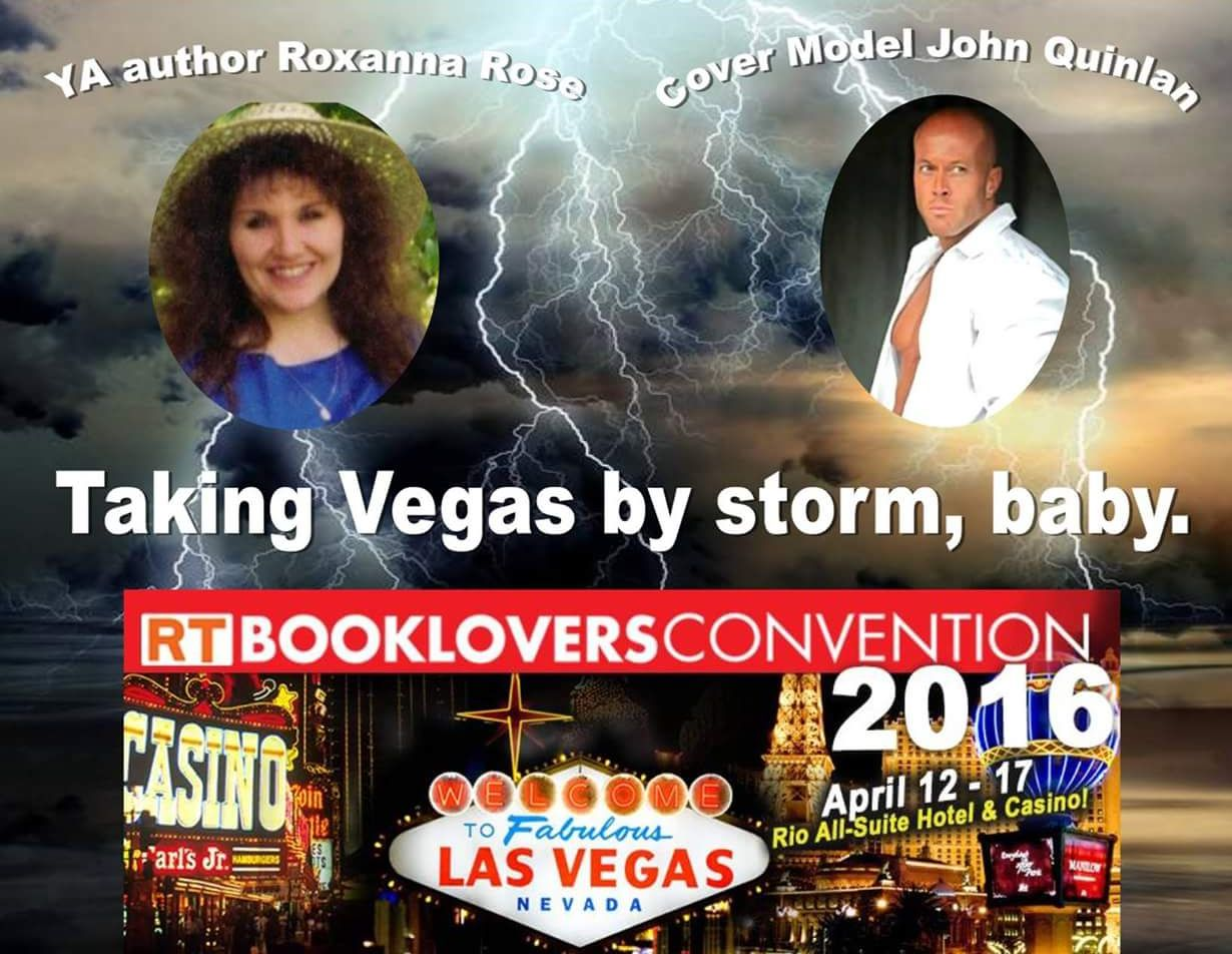 2016 Las Vegas RT Booklovers Convention Poster by Author Roxanna Rose & The Official Sponsor of 4x Featured Cover Model John Joseph Quinlan #JohnQuinlan