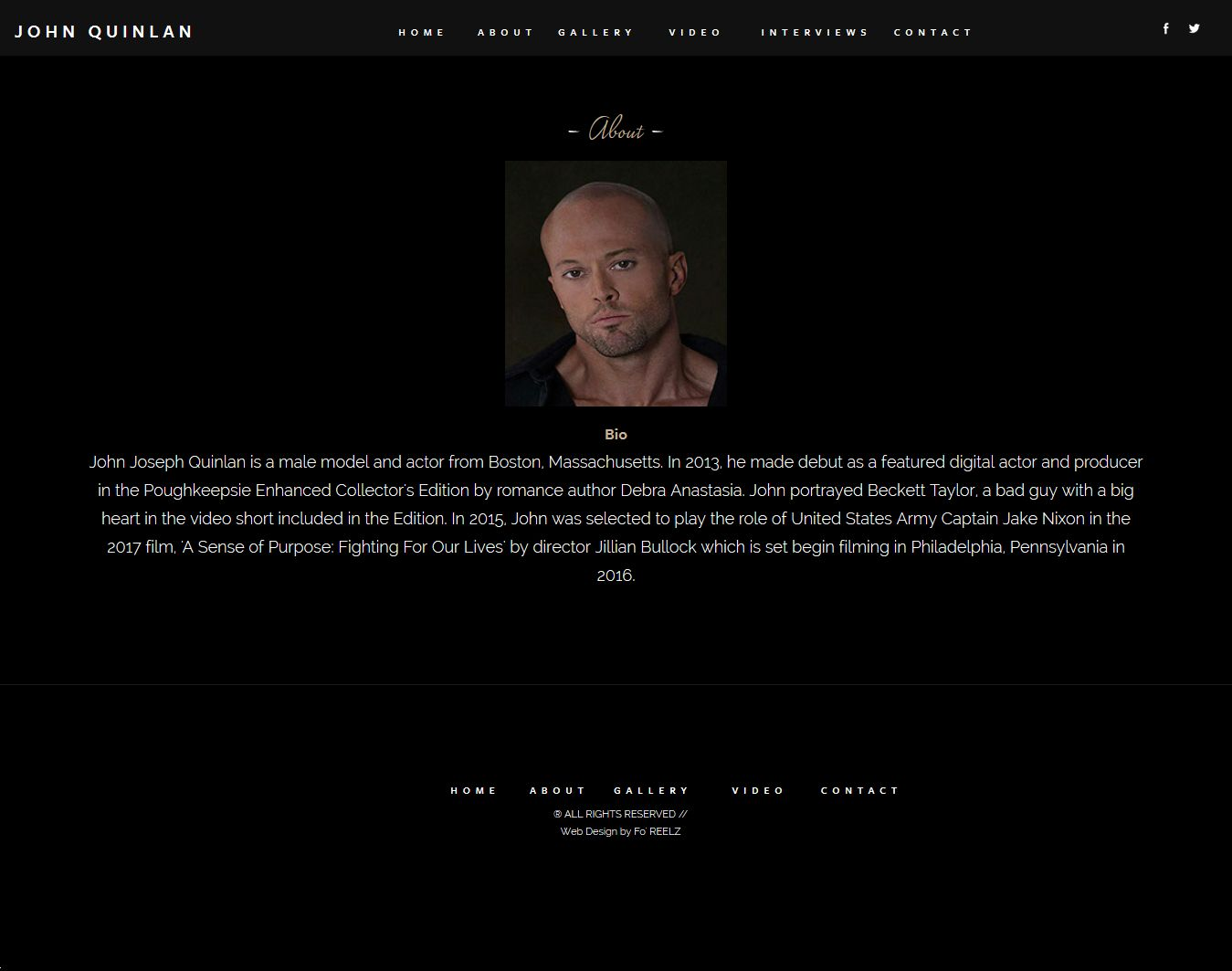 Actor & Model John Joseph Quinlan Official Site by Ashton Bingham #JohnQuinlan