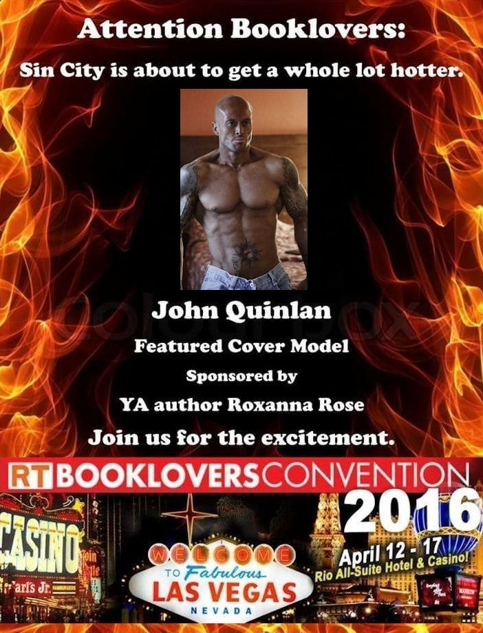 2016 RT Convention Las Vegas Featured Cover Model John Joseph Quinlan by Roxanna Rose. #JohnQuinlan