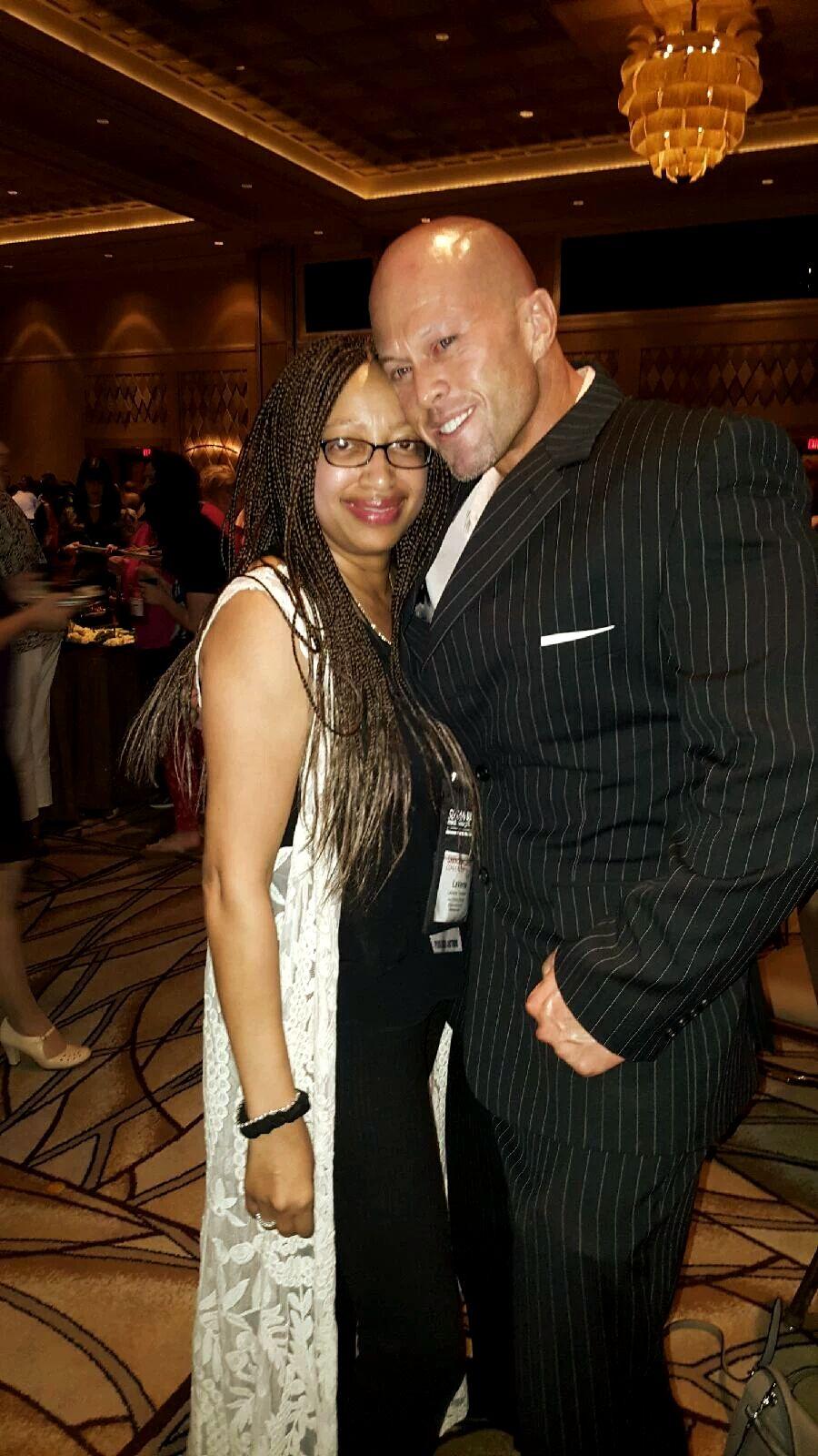 2016 RT Las Vegas Model & Actor John Joseph Quinlan with Author LaVerne Thompson. #JohnQuinlan