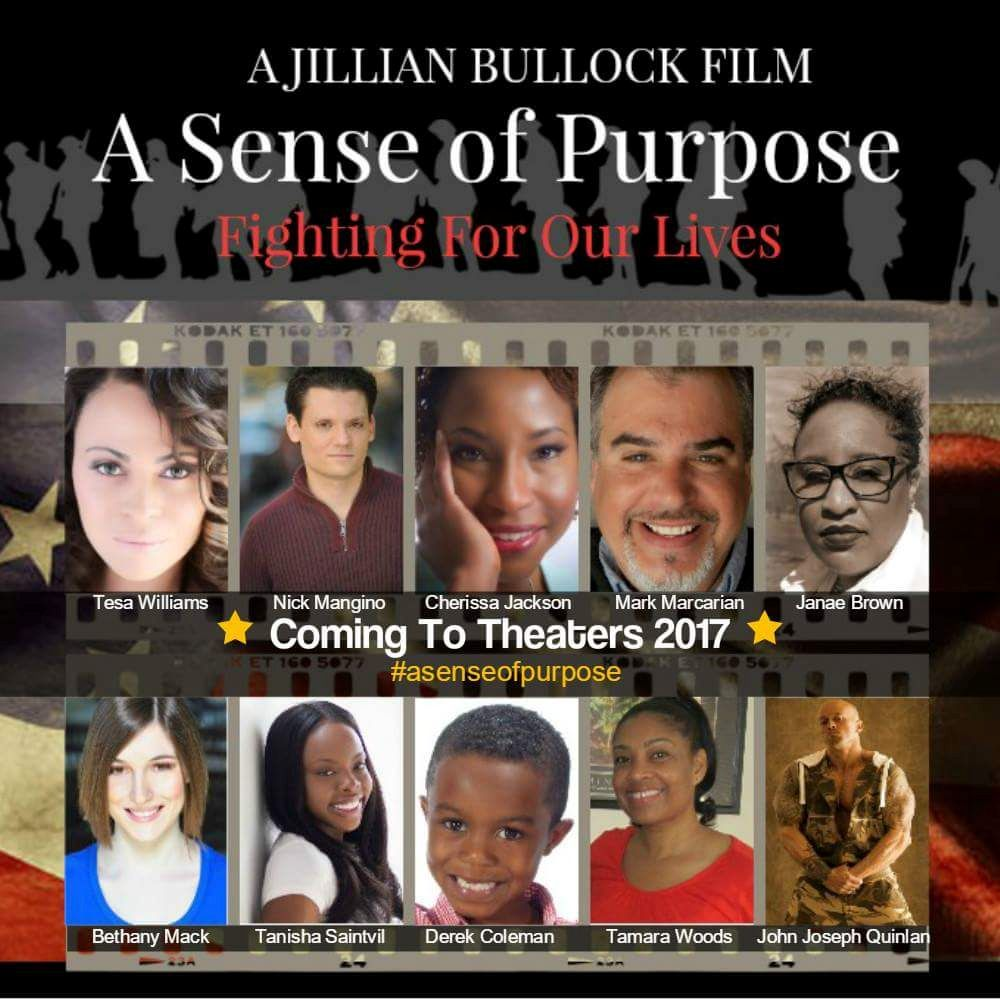A Sense of Purpose Jillian Bullock Movie Poster with Actor & Model John Joseph Quinlan #JohnQuinlan