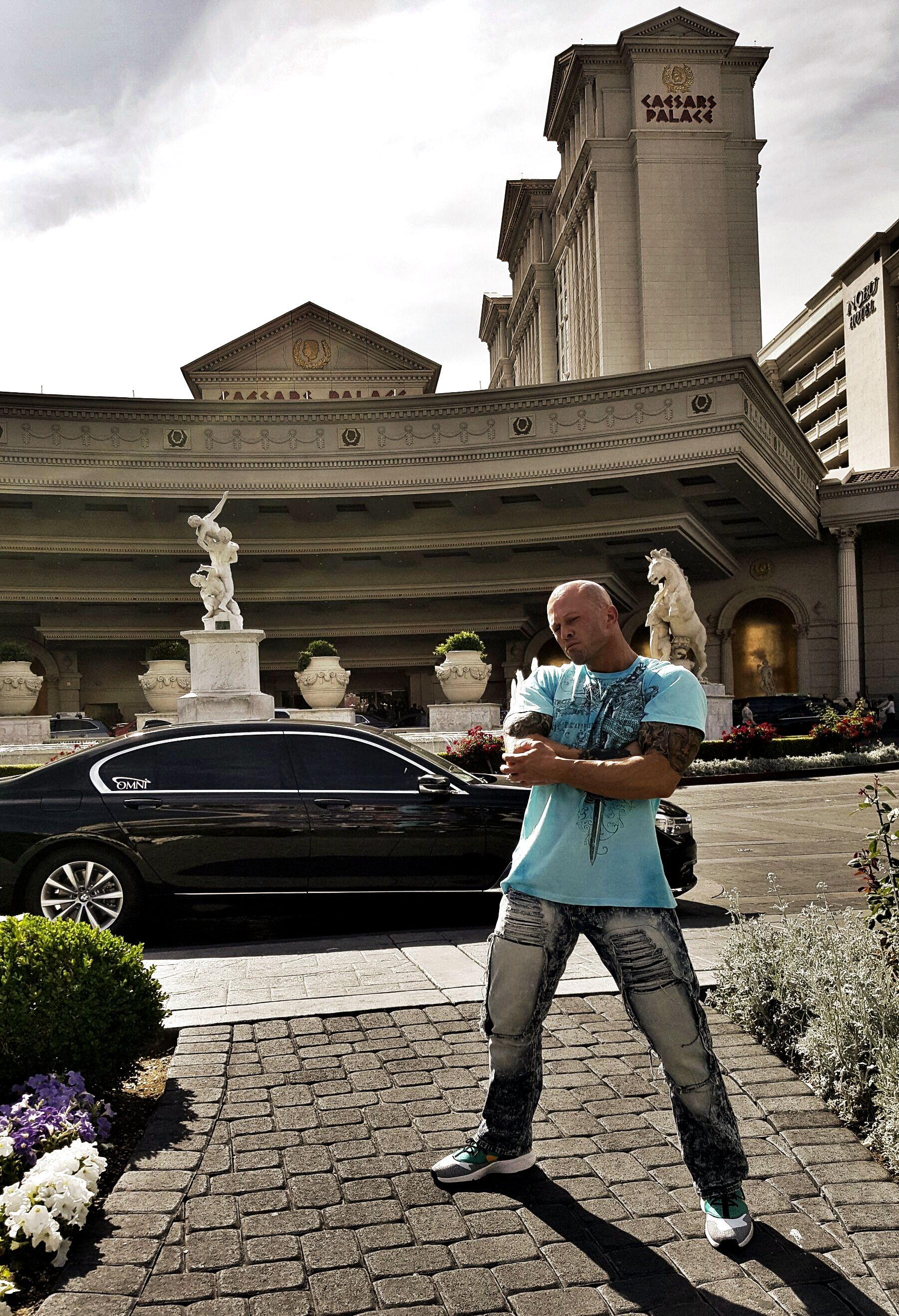 Actor & Model John Joseph Quinlan Outside Caesars Palace Las Vegas 2016. #JohnQuinlan