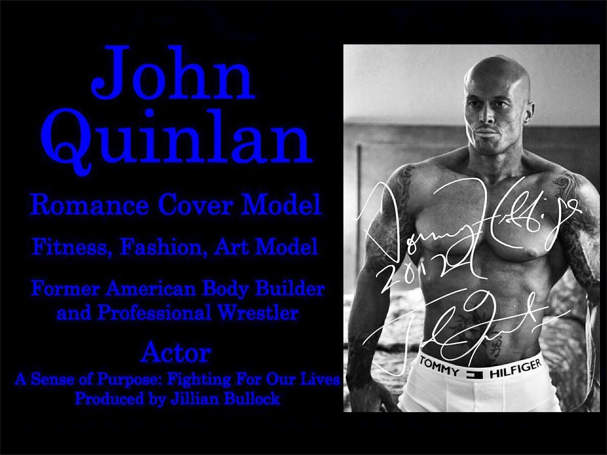 RT Cover & Physique Model John Joseph Quinlan 2012 Tommy Hilfiger Autograph #JohnQuinlan