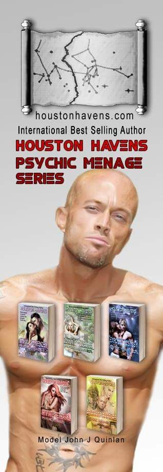 International Best Selling Author Houston Havens Psychic Menage Series Model & Actor John Joseph Quinlan. #JohnQuinlan
