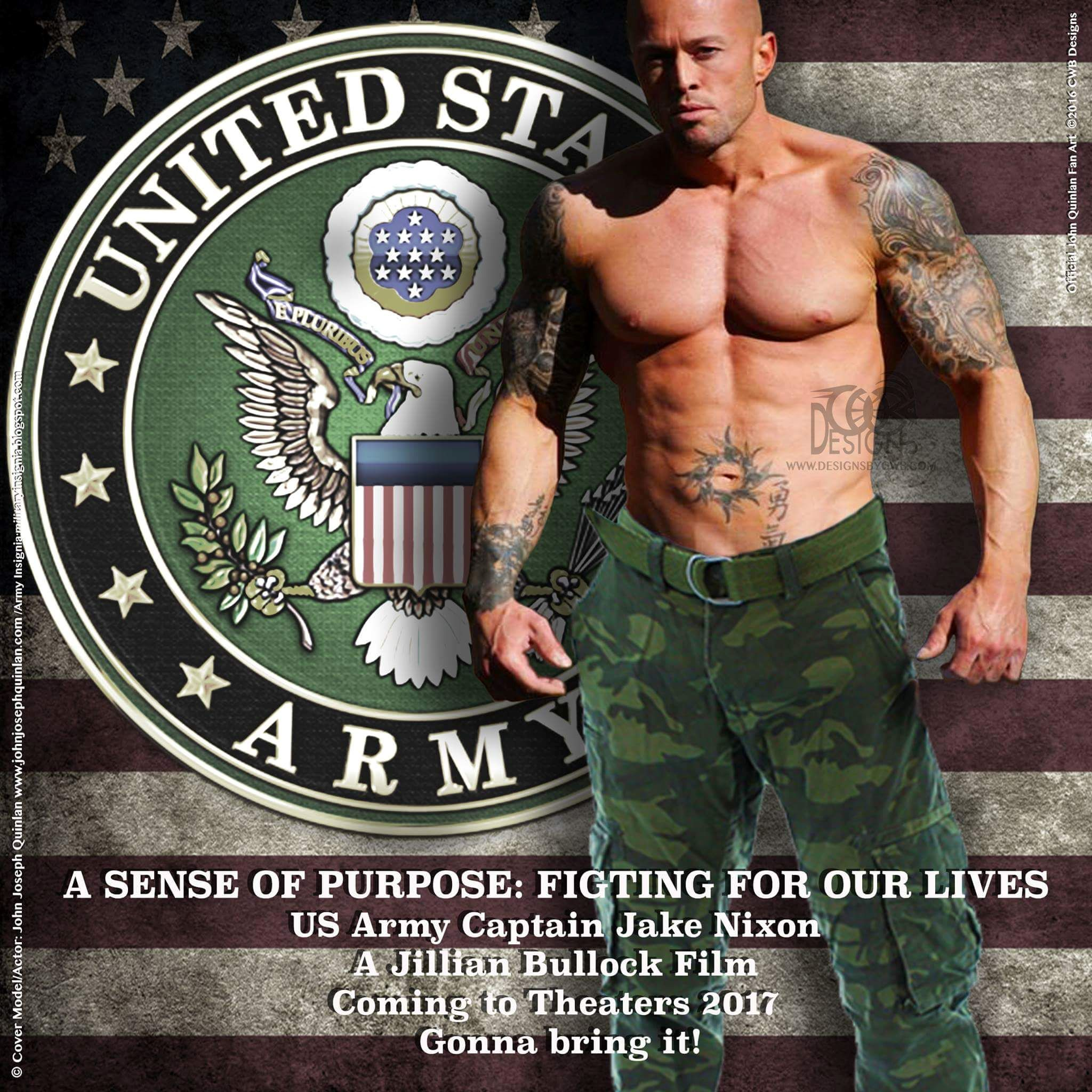 Actor & Model John Joseph Quinlan A Sense of Purpose Fighting For Our Lives Captain Nixon. #JohnQuinlan