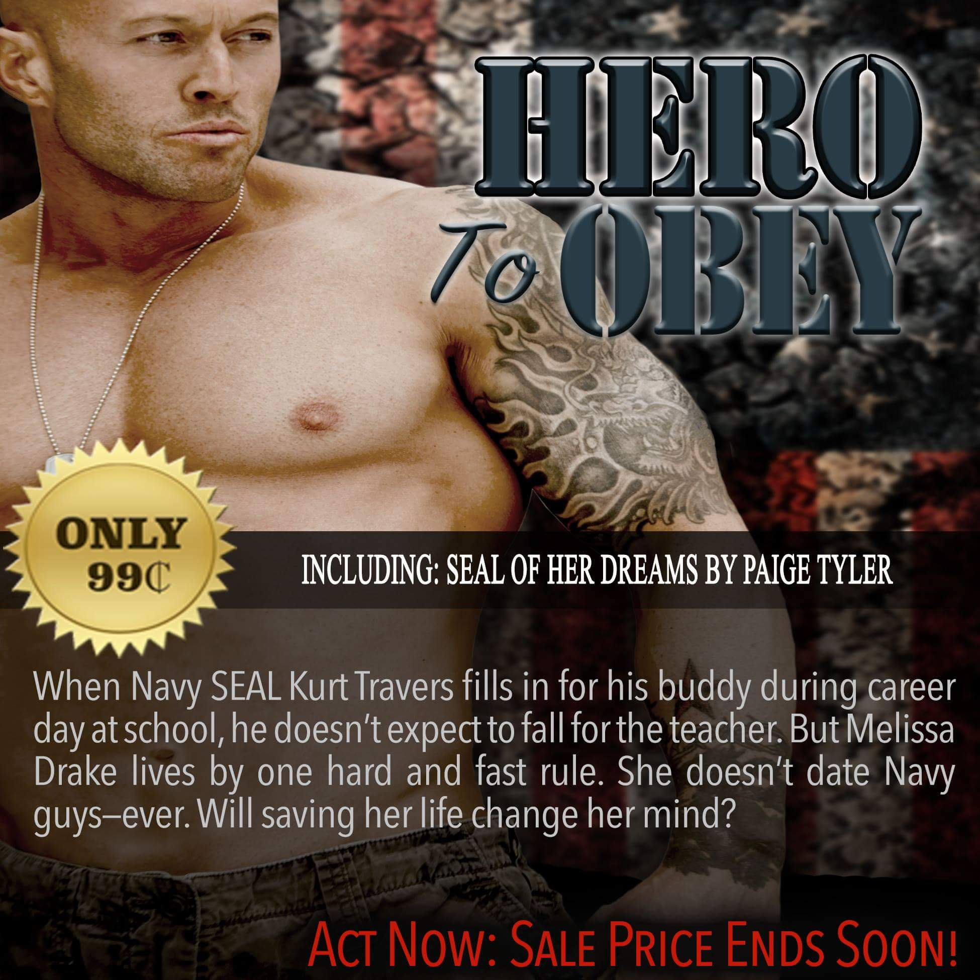 Hero To Obey Book Cover Model Actor John Joseph Quinlan by Paige Tyler. #JohnQuinlan #Hero2obey