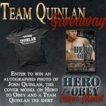 Hero To Obey Book Cover Model Actor Team John Joseph Quinlan Autograph Giveaway. #JohnQuinlan