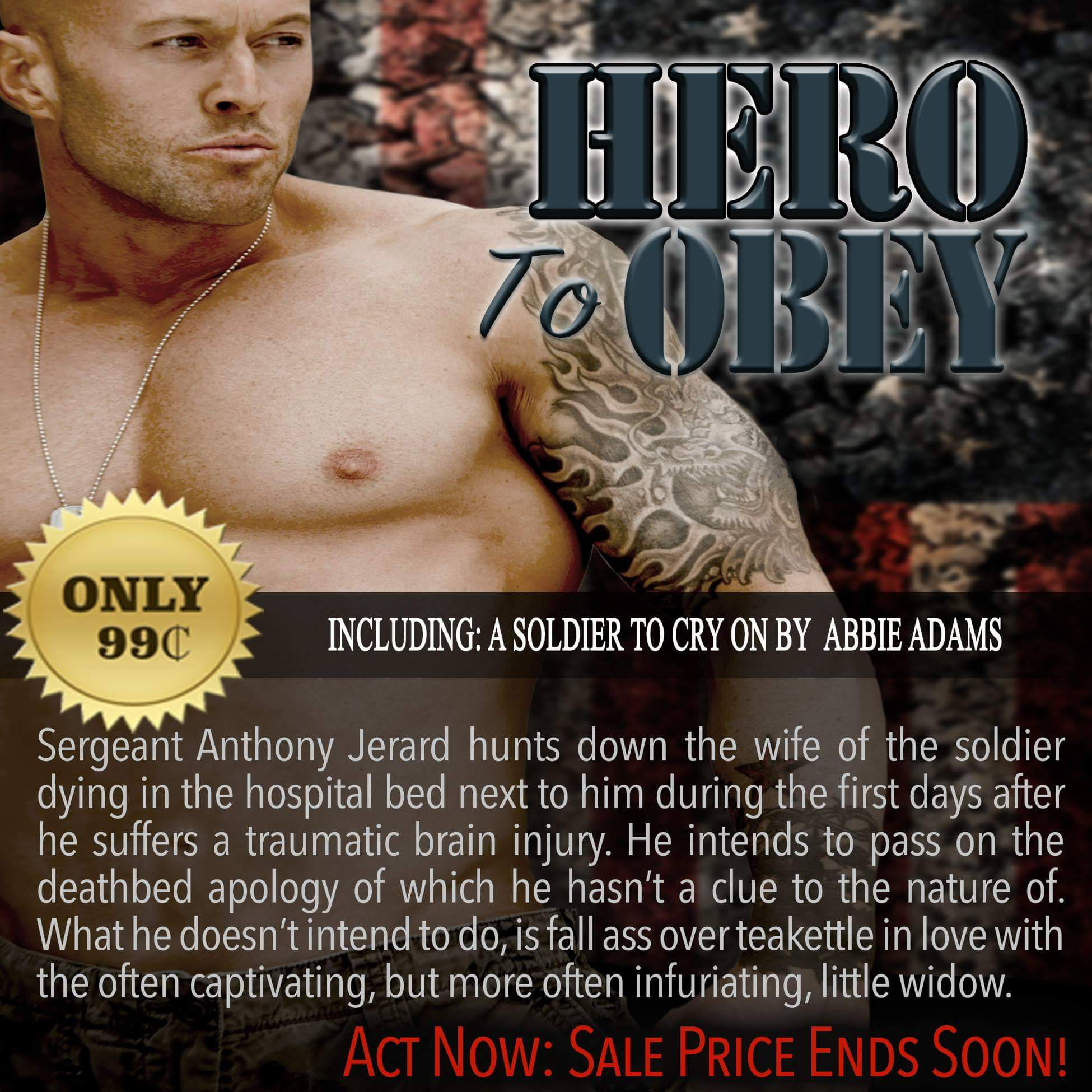 Hero To Obey Book Cover Model Actor John Joseph Quinlan by Abbie Adams #JohnQuinlan #Hero2obey