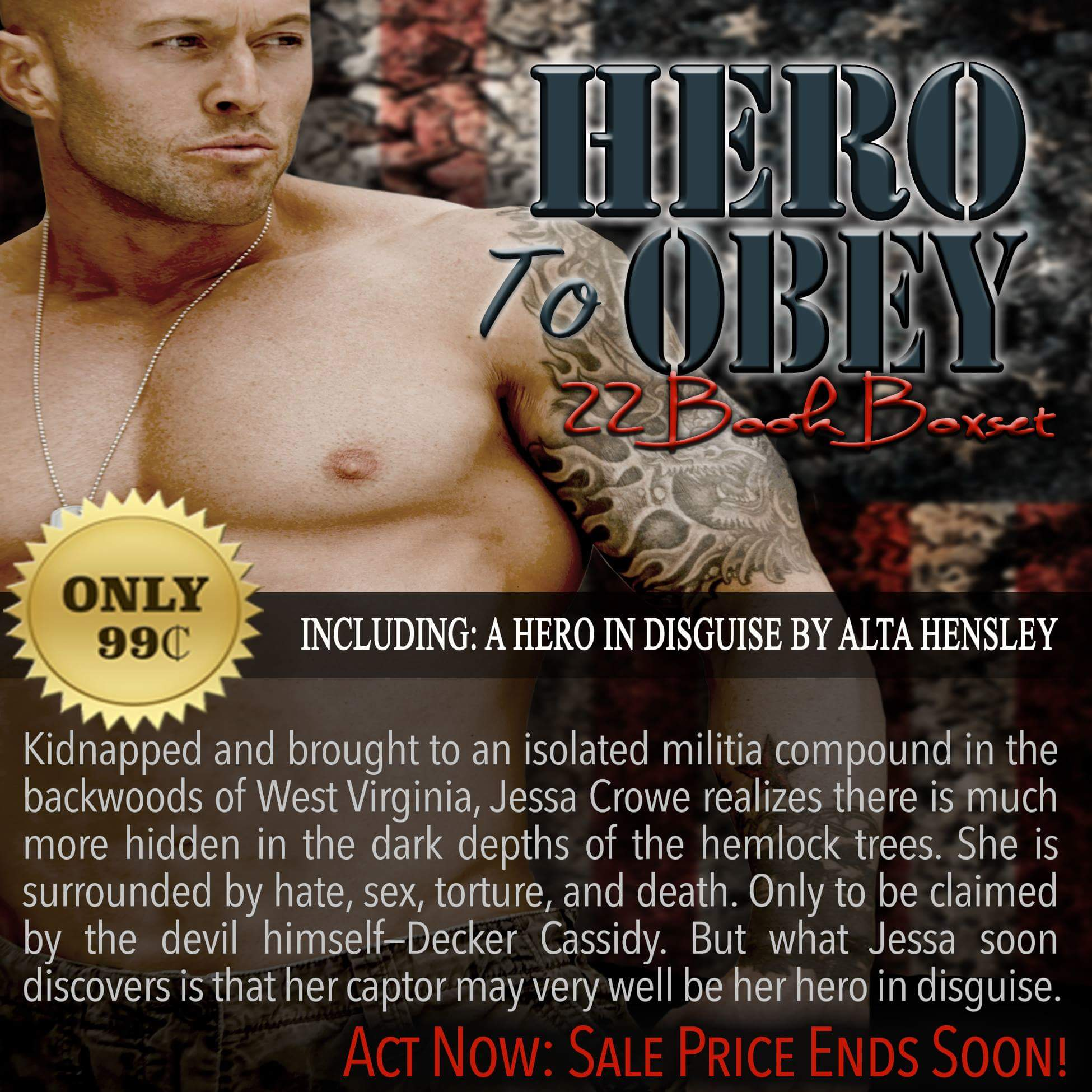Hero To Obey Book Cover Model Actor John Joseph Quinlan by Alta Hensley #JohnQuinlan #Hero2obey