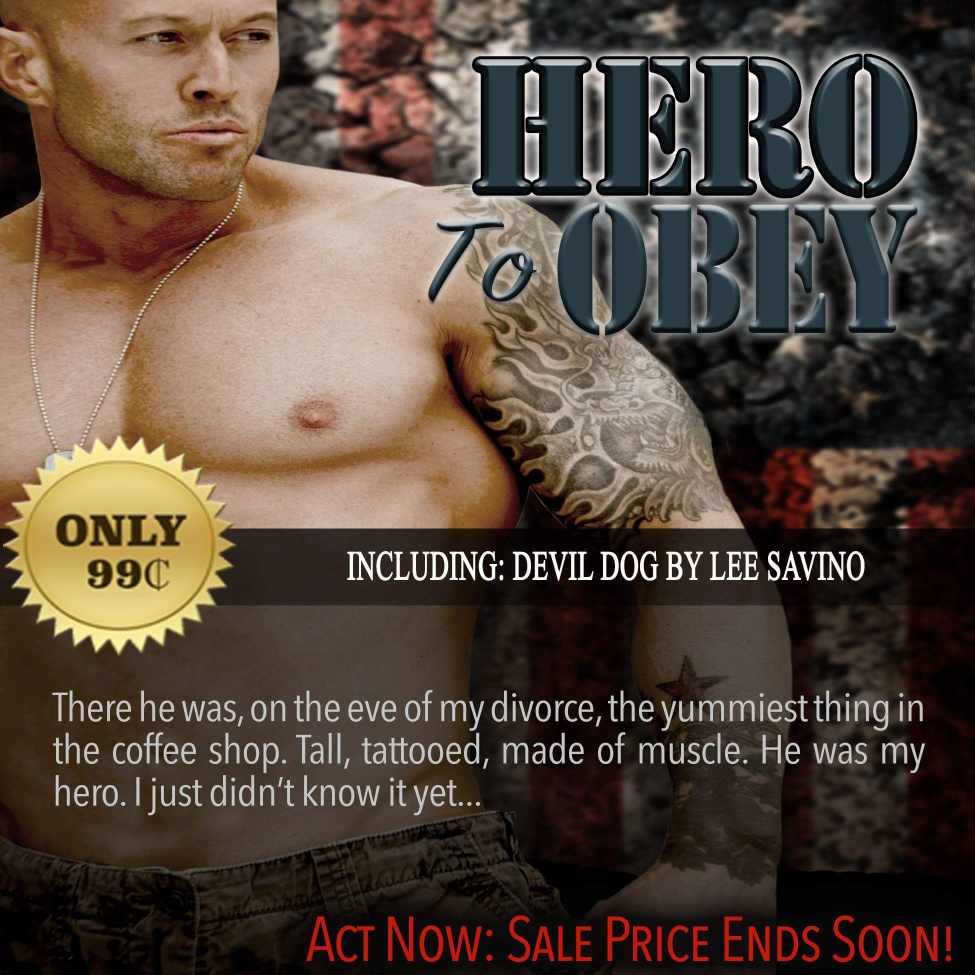 Hero To Obey Book Cover Model Actor John Joseph Quinlan by Lee Savino #JohnQuinlan #Hero2obey