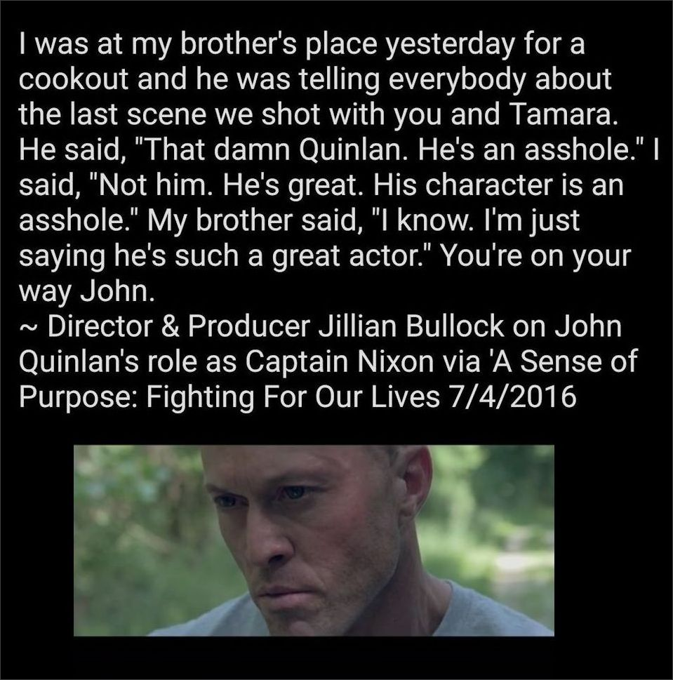 Jillian Bullock on Actor John Joseph Quinlan as Captain Nixon 7-4-2016 #JohnQuinlan