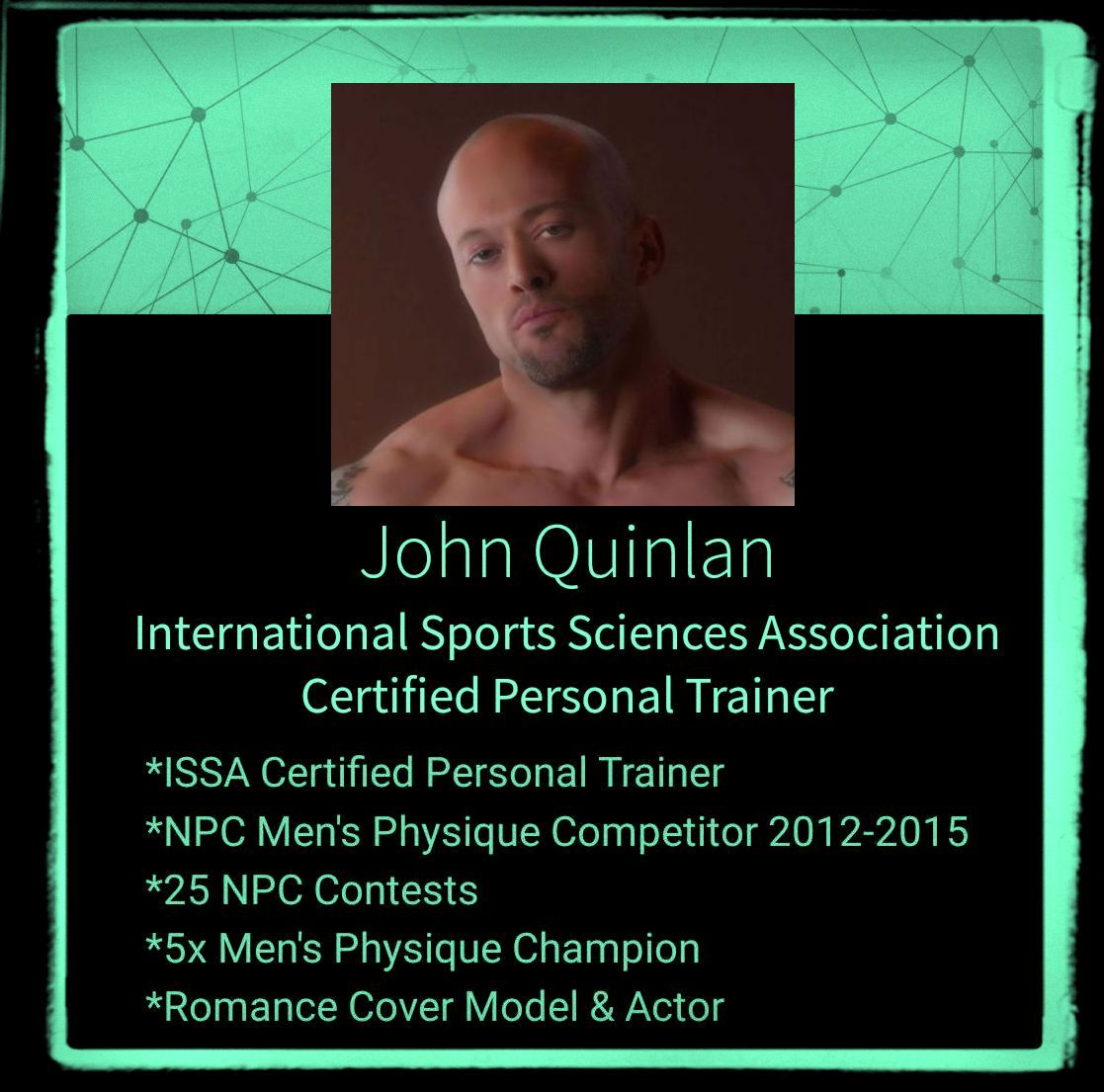 Romance Physique Model Trainer & Actor John Joseph Quinlan ISSA Promo #JohnQuinlan