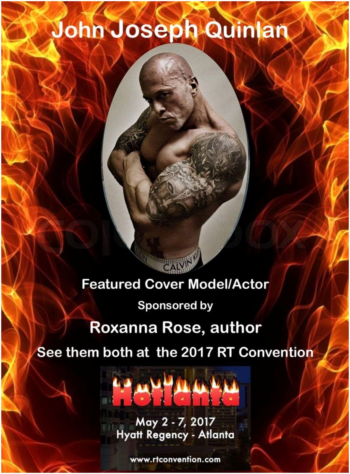 2017 RT Convention Atlanta Featured Cover Model John Joseph Quinlan by Roxanna Rose #JohnQuinlan #RT17