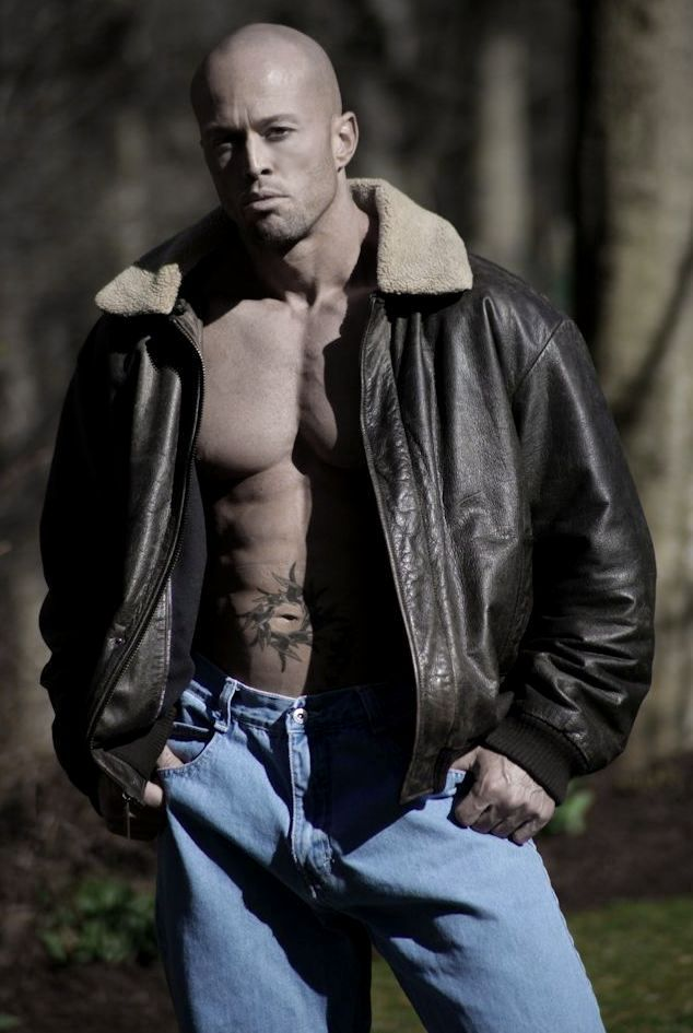 Model & Actor John Joseph Quinlan in Calvin Klein Leather and Jeans #JohnQuinlan #CalvinKlein