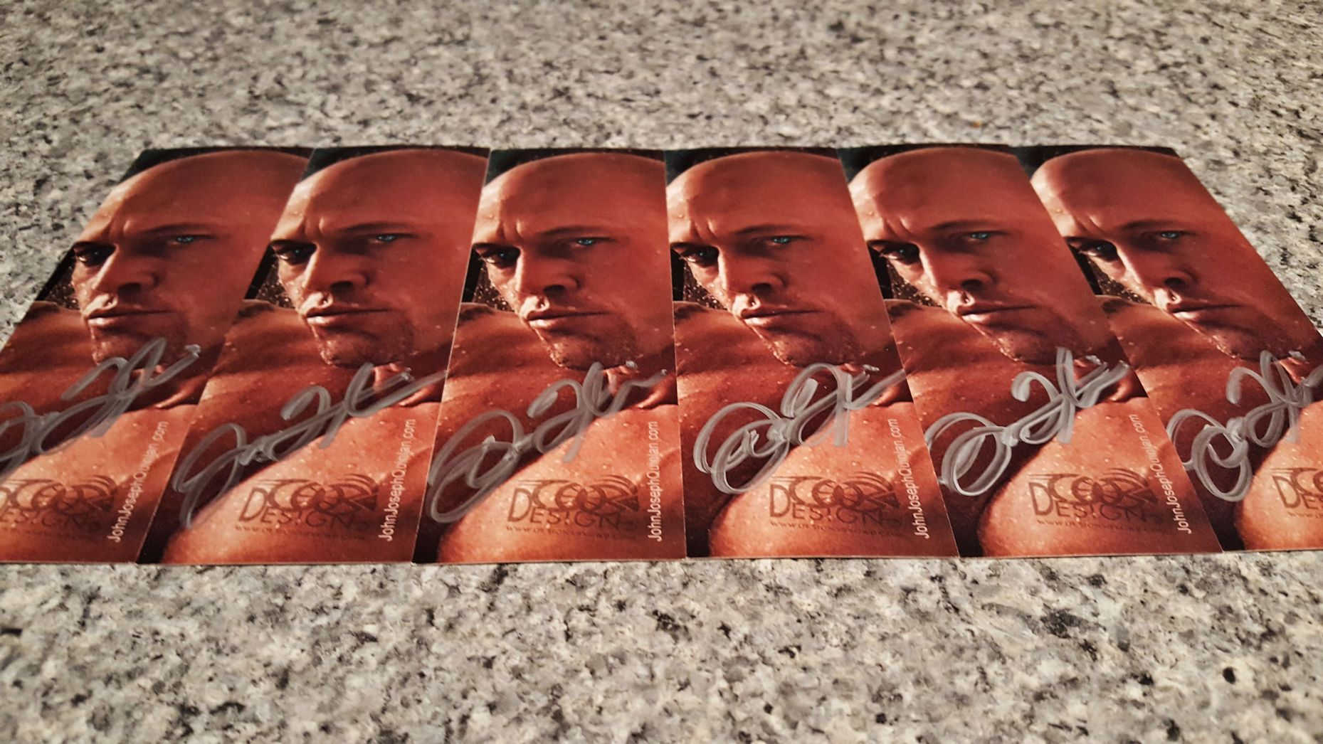 Romance Cover Model & Actor John Joseph Quinlan Bookmark Autographs #JohnQuinlan