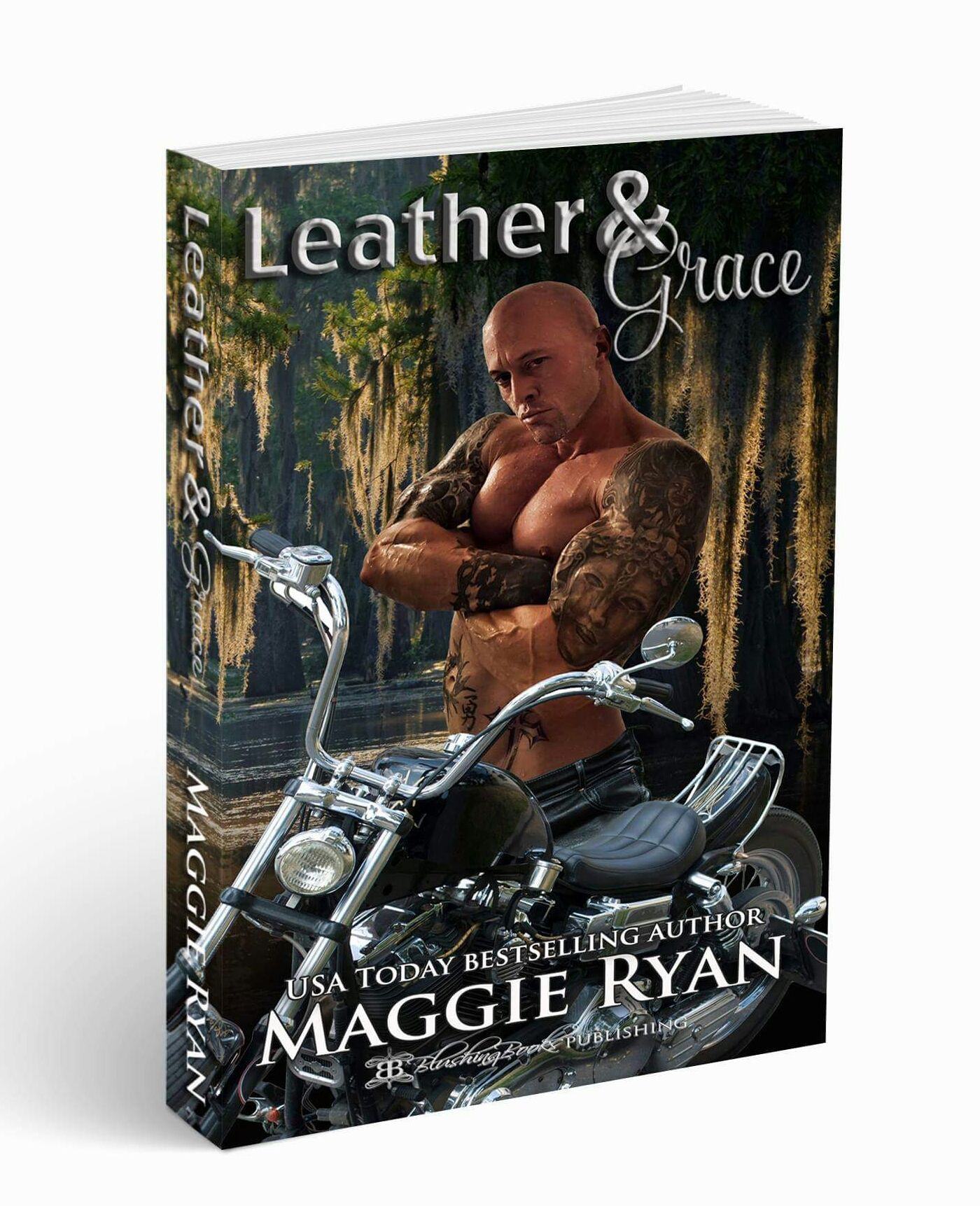 Cover Model & Actor John Quinlan Leather & Grace by Maggie Ryan #JohnQuinlan