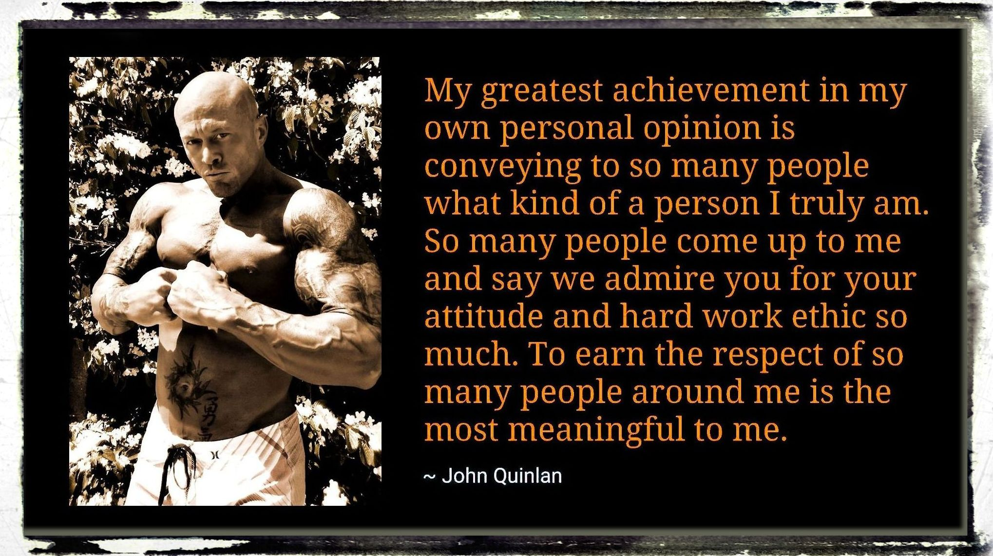 Fitness & Romance Cover Model Actor John Joseph Quinlan Quote #JohnQuinlan