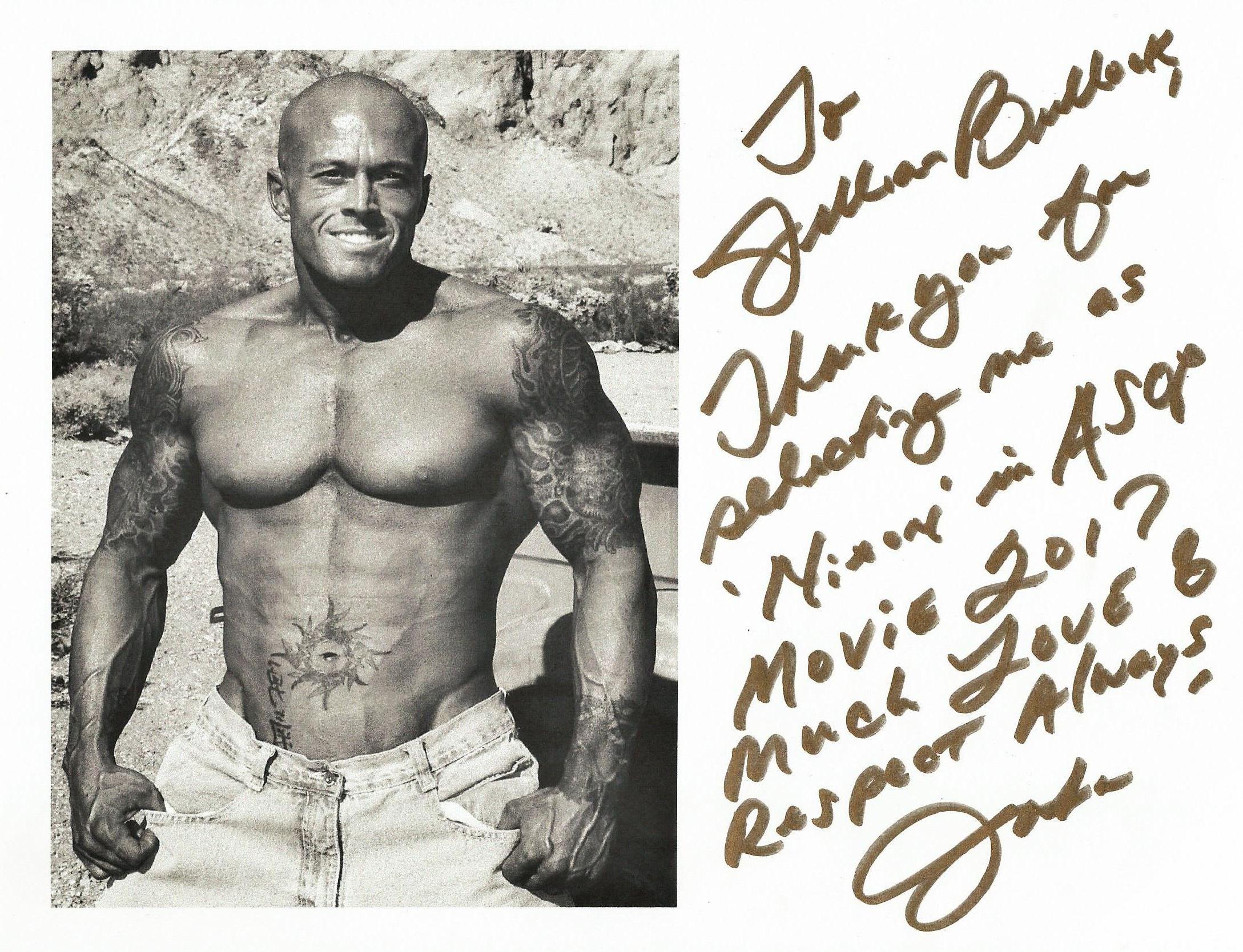 Model & Actor John Joseph Quinlan aka Nixon Jillian Bullock Autograph #JohnQuinlan
