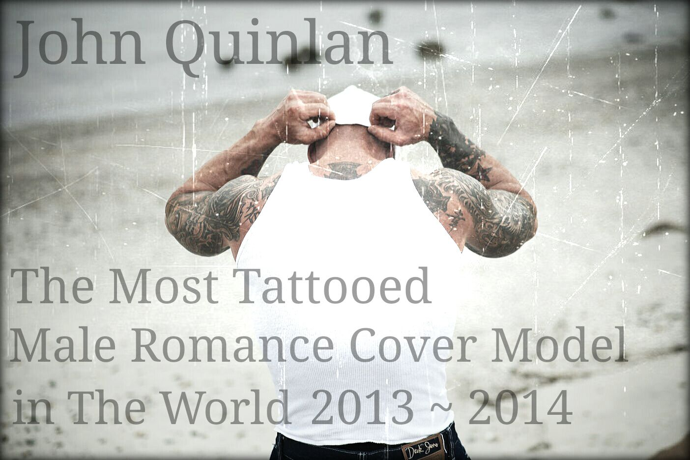 Romance Cover Tattoo Physique Model & Actor John Joseph Quinlan Poster #JohnQuinlan