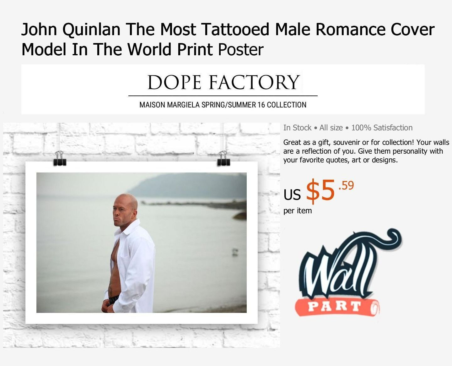 Romance Tattoo Cover Model & Actor John Joseph Quinlan Poster @ Wallpart #JohnQuinlan