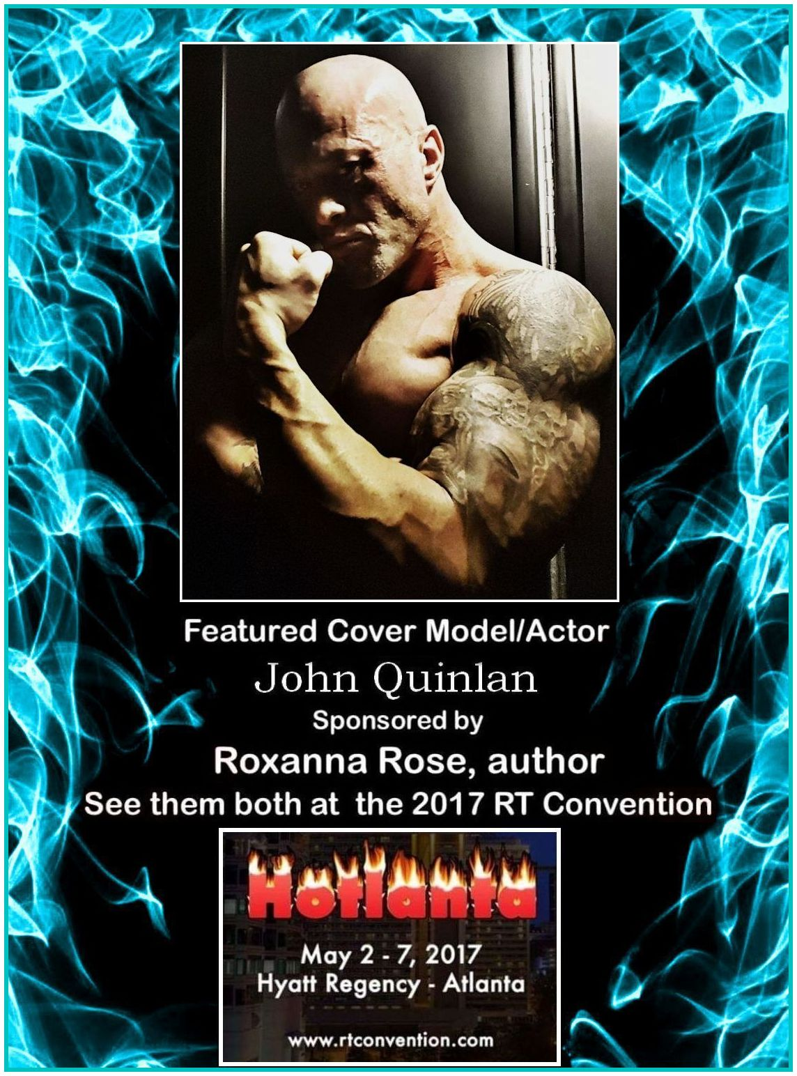 2017 RT Convention Atlanta Featured Cover Model John Joseph Quinlan by Roxanna Rose #JohnQuinlan
