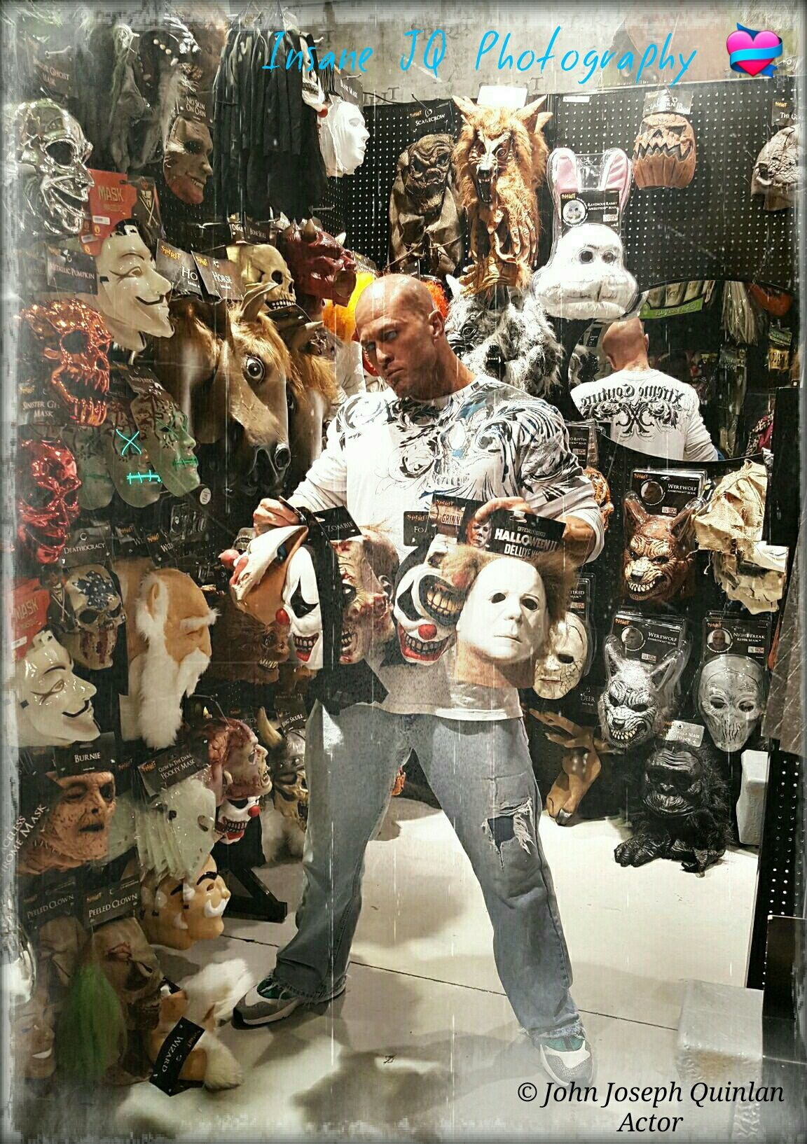 Actor & Model John Joseph Quinlan Michael Myers Halloween Masks 2016 #JohnQuinlan #MichaelMyers #Halloween