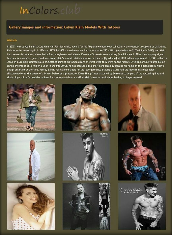 Calvin Klein Actor Singer & Model Sheet Justin Bieber Tyrese Gibson John Joseph Quinlan #JohnQuinlan