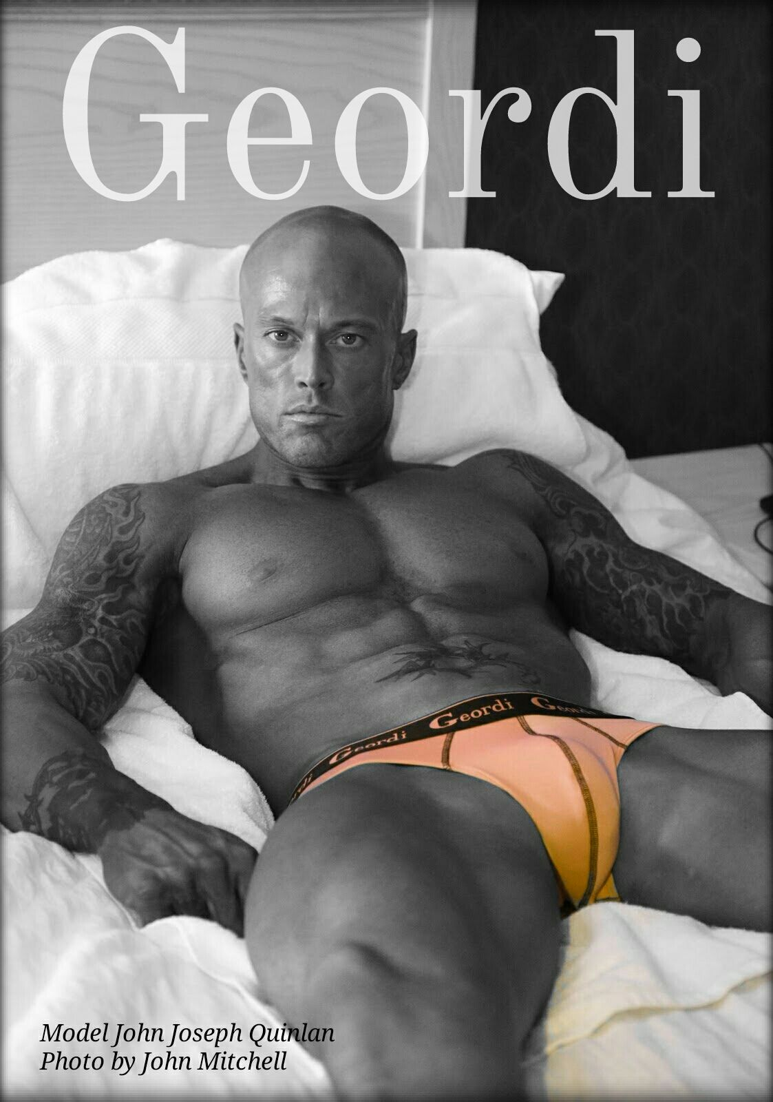 Romance Physique Underwear Model & Actor John Joseph Quinlan in Geordi #JohnQuinlan