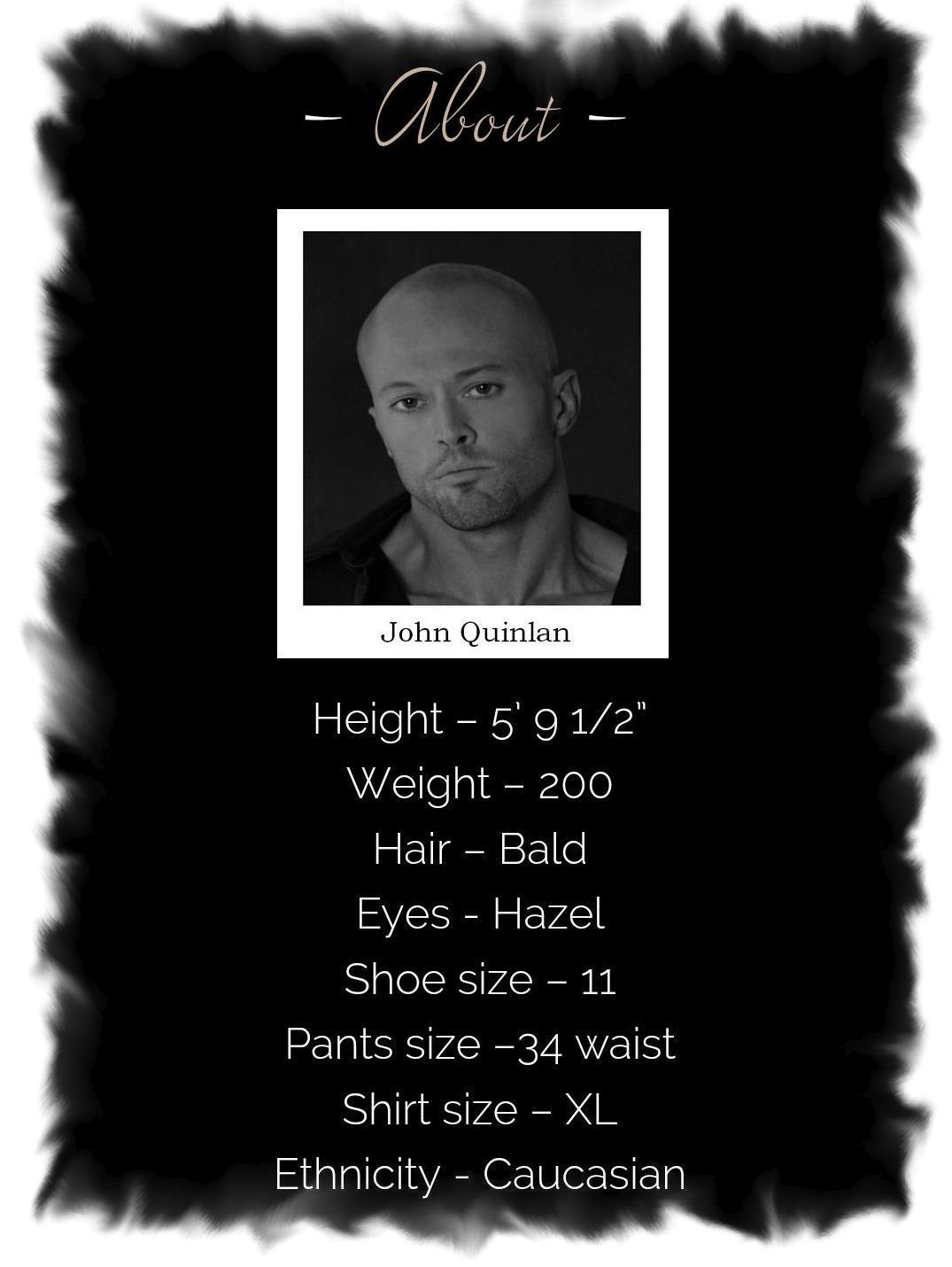 Actor & Model John Joseph Quinlan Official Site by Ashton Bingham About Bio #JohnQuinlan