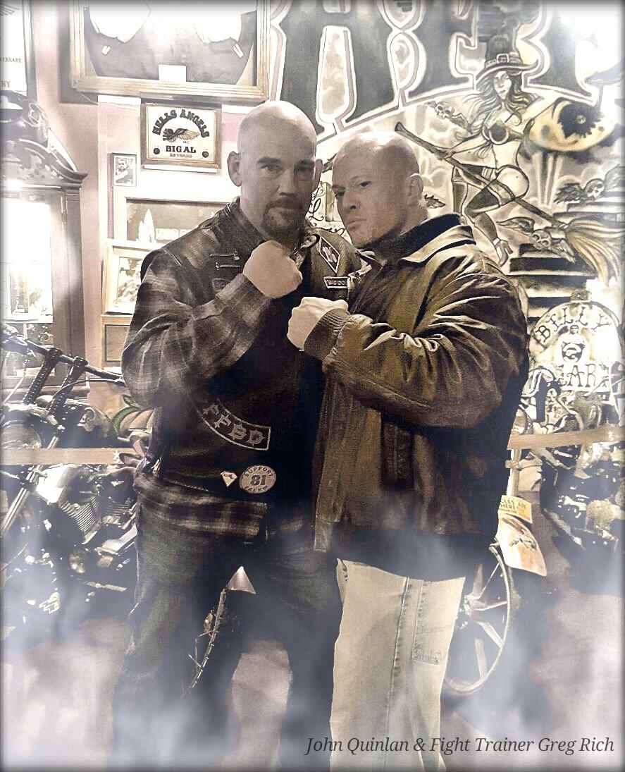 Model & Actor John Joseph Quinlan with Boxing Trainer Greg Rich #JohnQuinlan