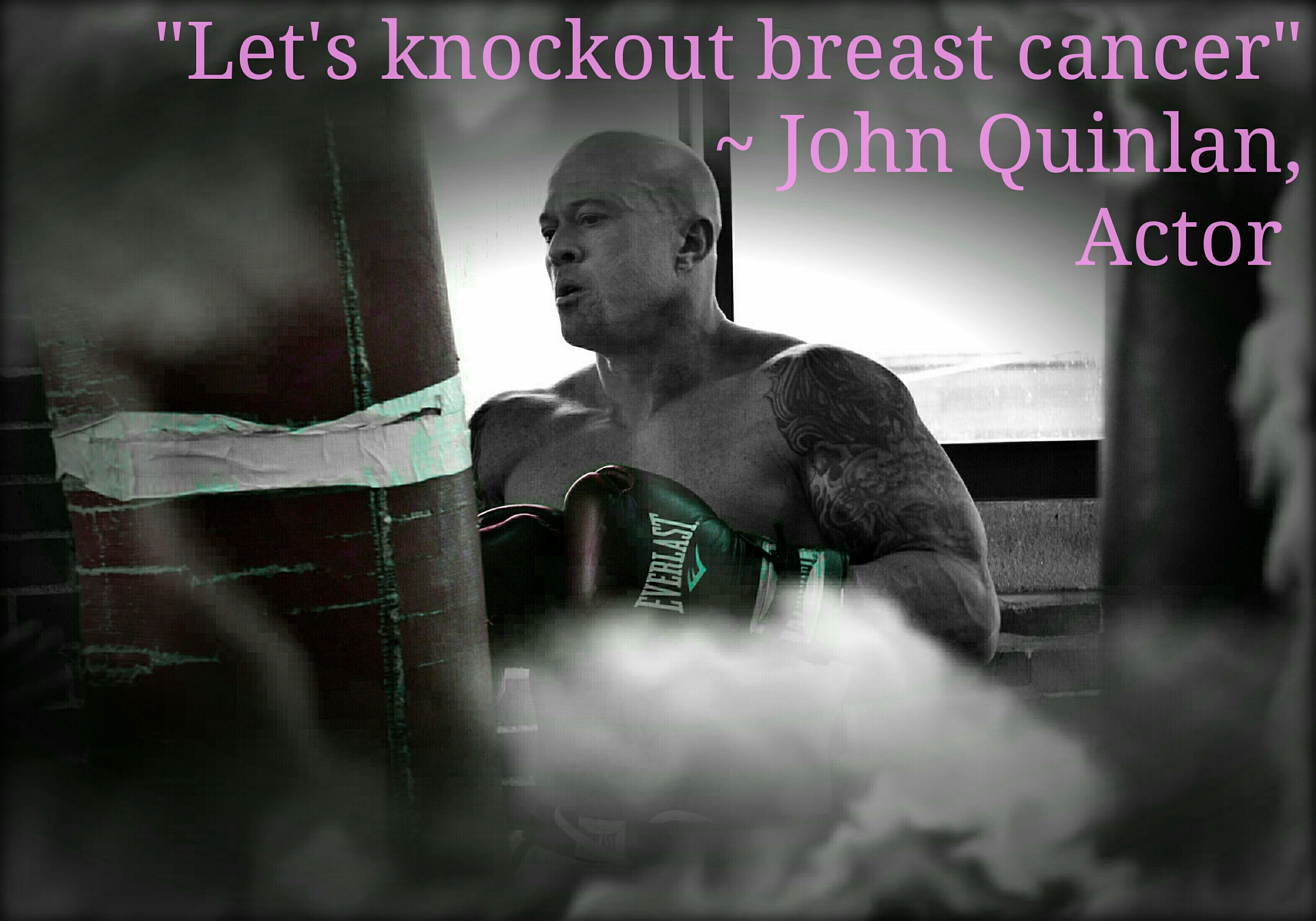 Actor & Model John Joseph Quinlan Knockout Breast Cancer Poster #JohnQuinlan
